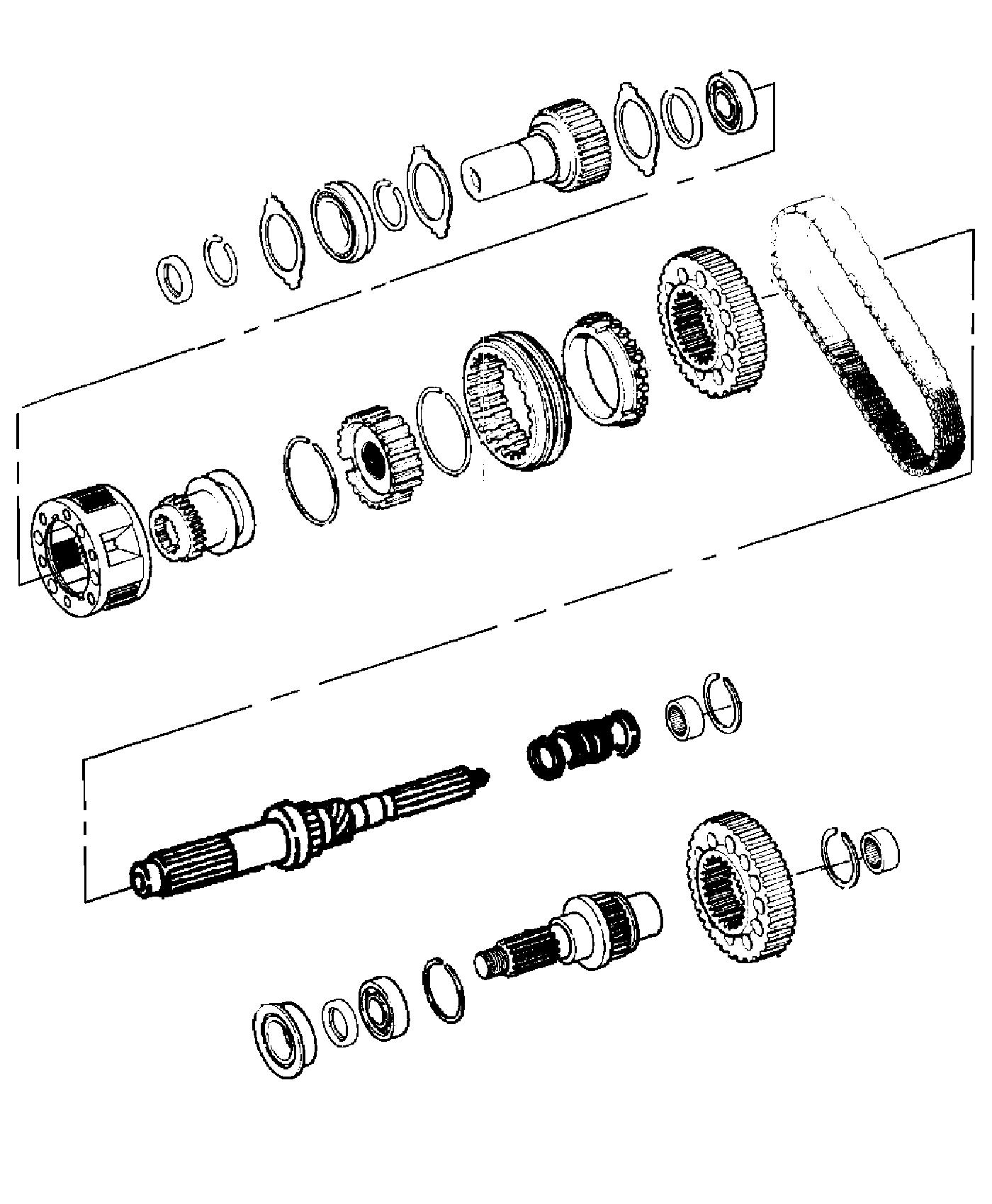 2011 Jeep Liberty Output shaft. Transfer case. Gear, train