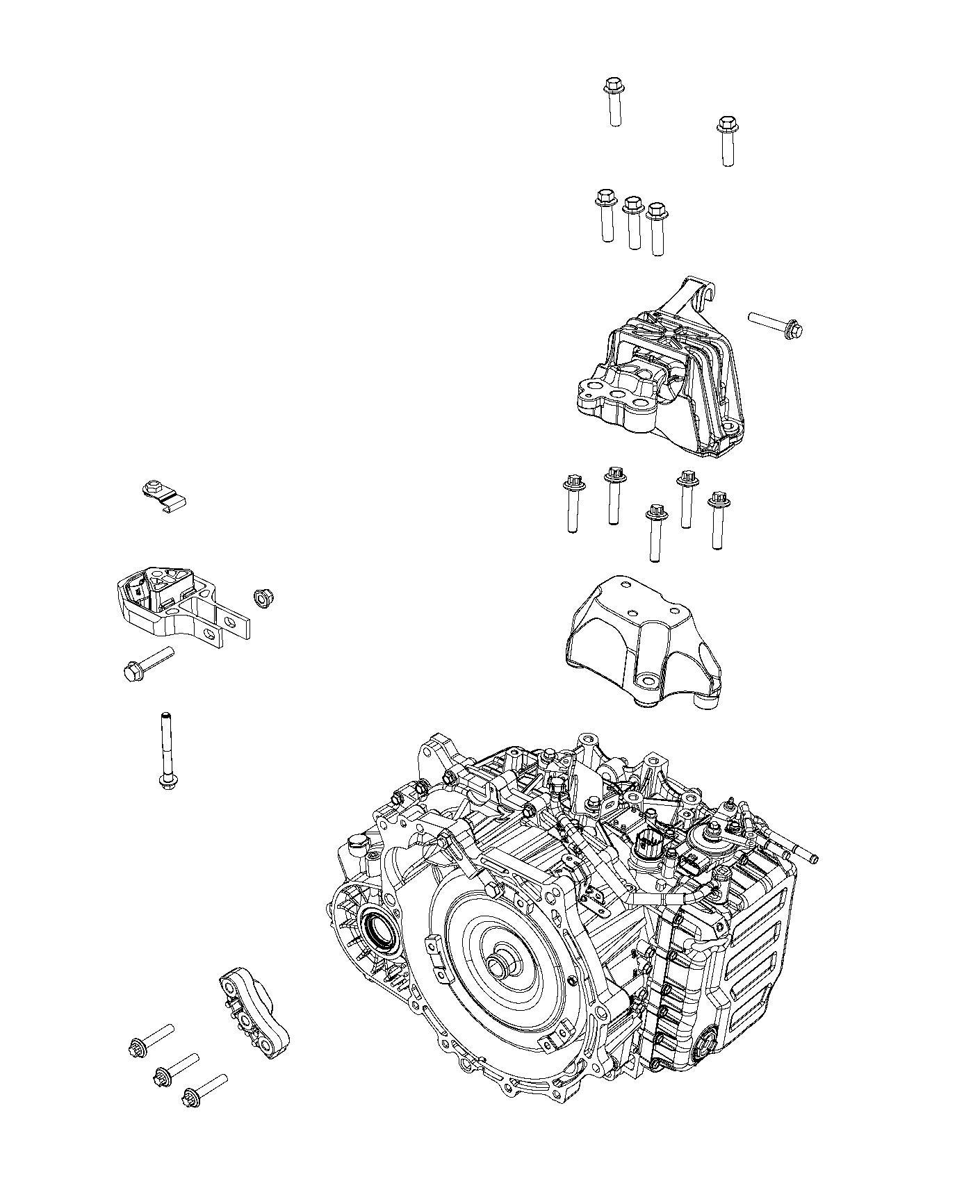 2013 Dodge Dart Insulator, isolator. Engine mount