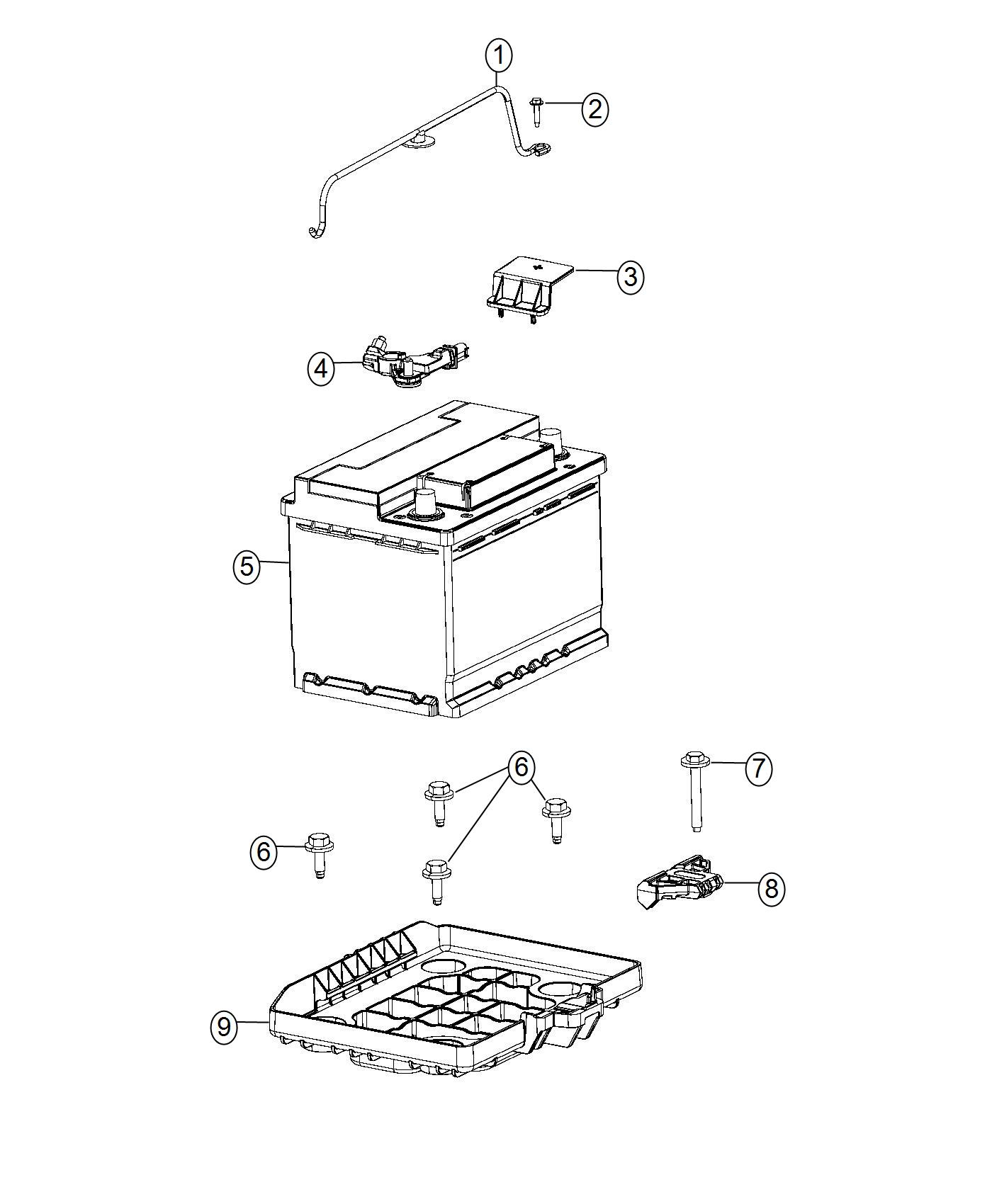 2013 Fiat 500E Tray. Battery. Support, maintenance