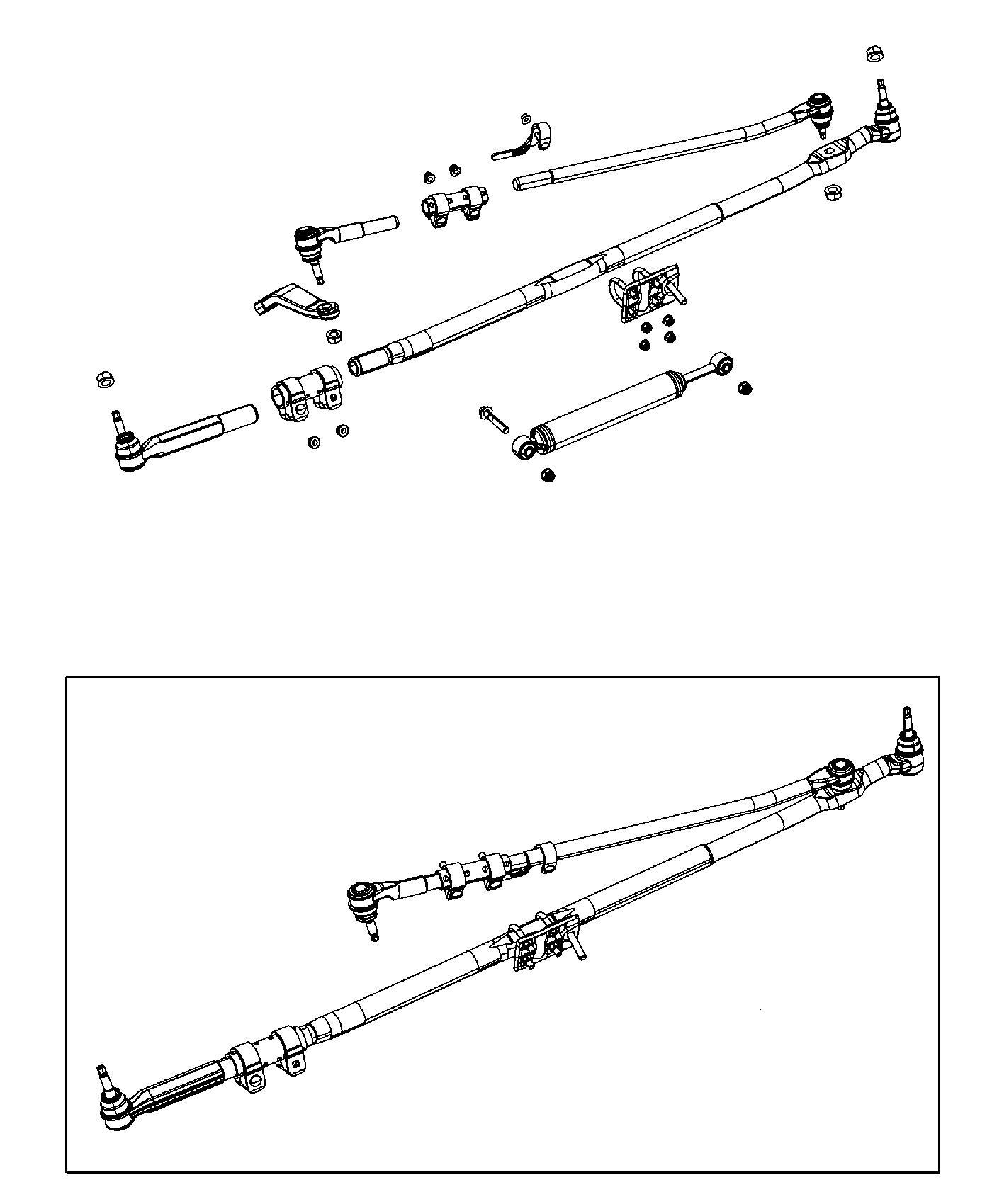 Dodge Ram Tie Rod Kit Outer End Steering