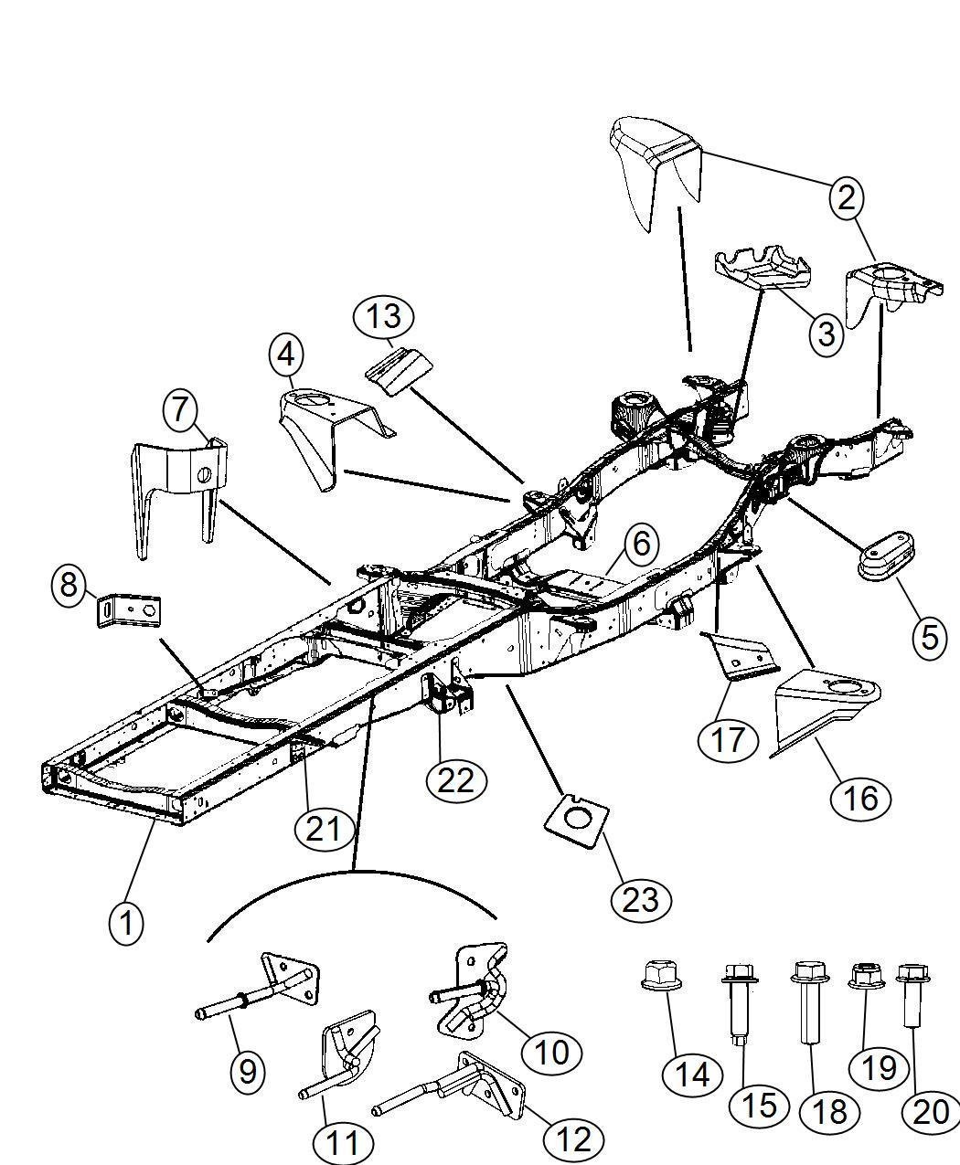 Dodge Ram Nut Hex Flange Lock M16x2 00