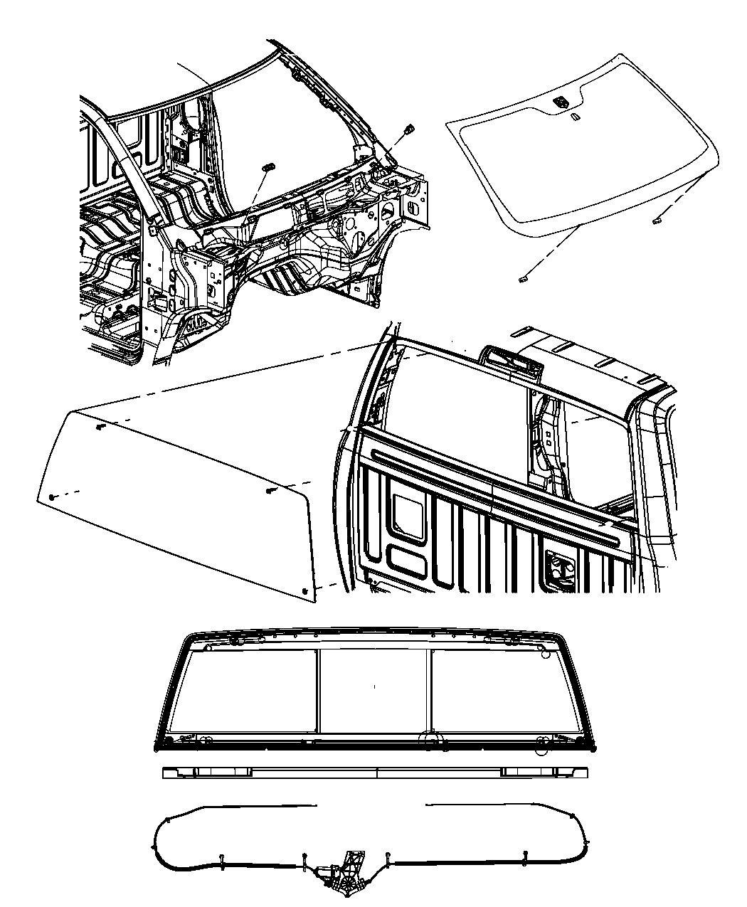 2013 Dodge Ram 3500 Glass. Backlite. Sliding. Assembly