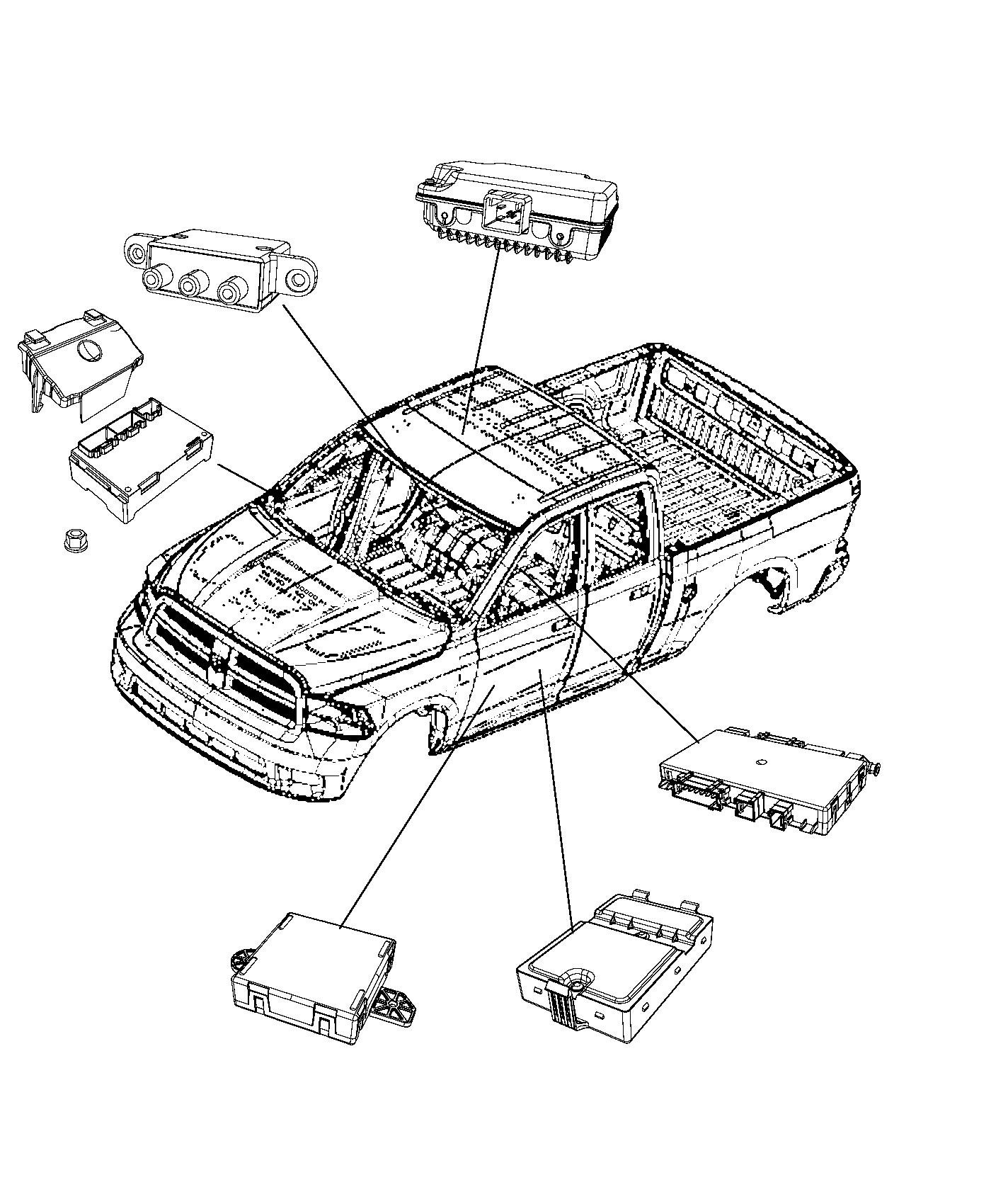 Dodge Ram Module Used For Memory Seat And