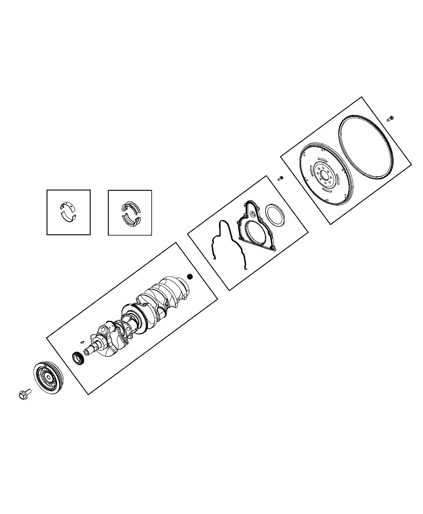 Dodge Viper Damper Vibration Crankshaft Bearings