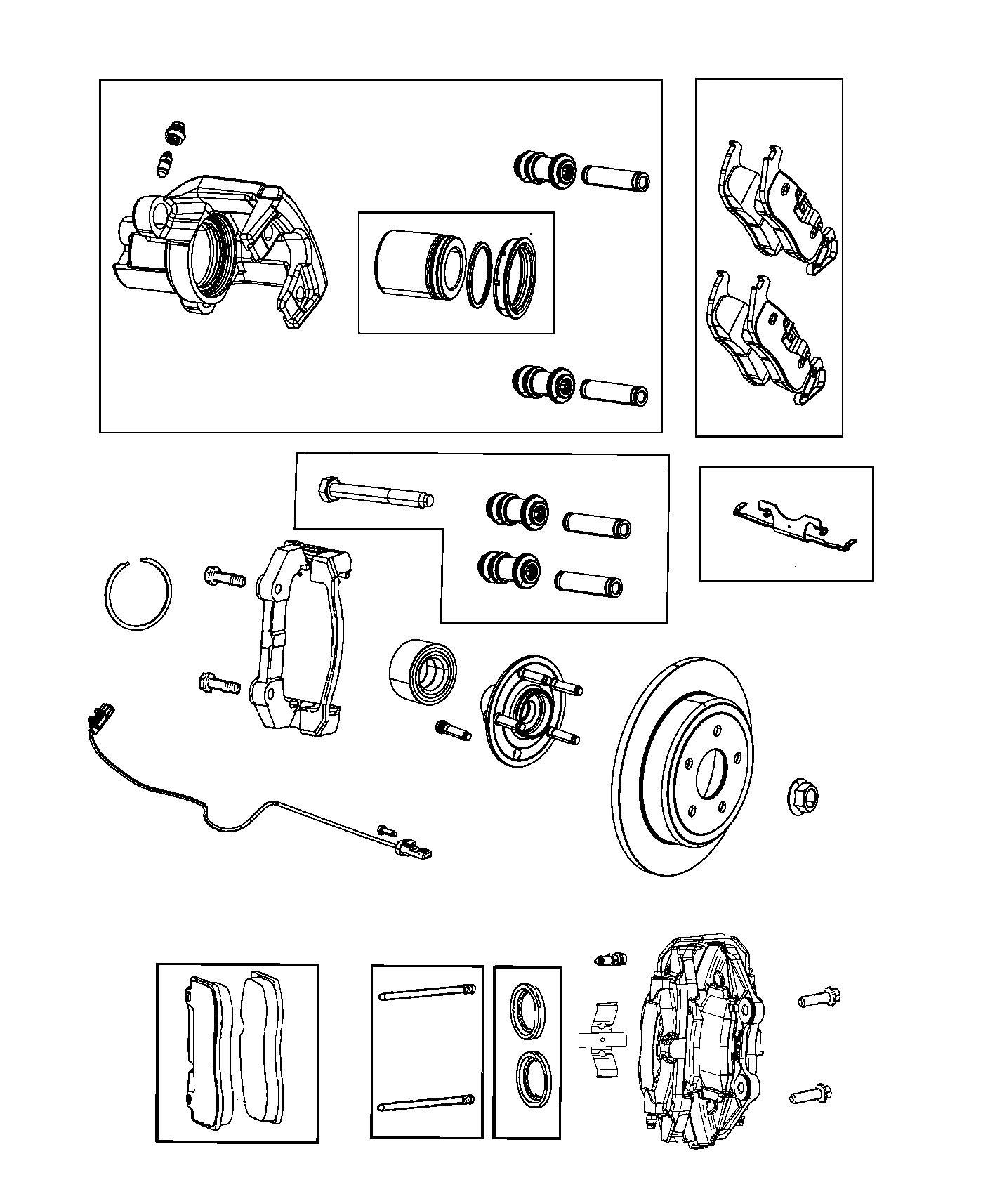 Dodge Magnum Caliper Assembly Disc Brake Rear Left