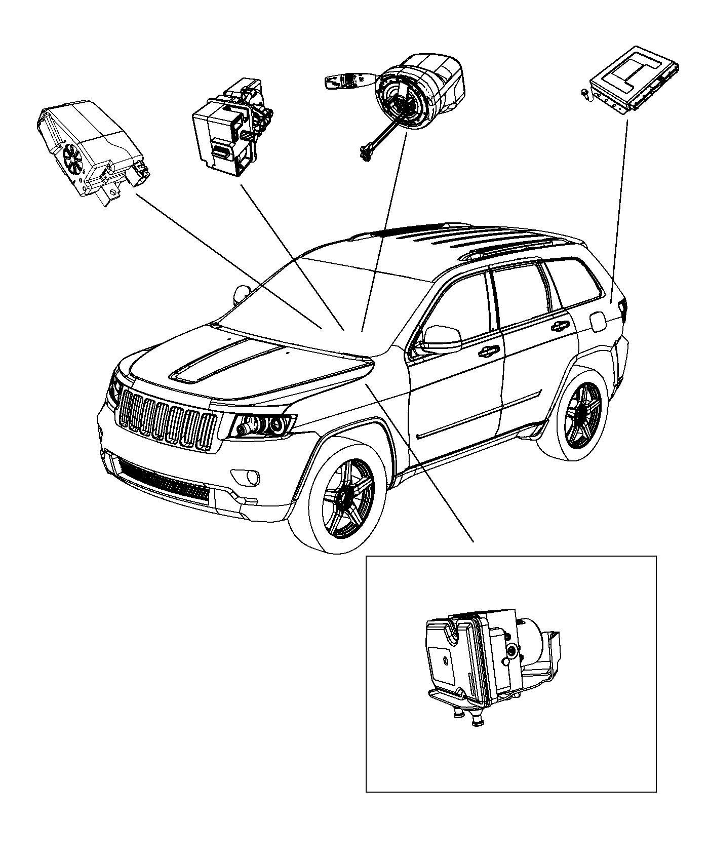 2016 Jeep Grand Cherokee Bracket. Module. Speed, transfer