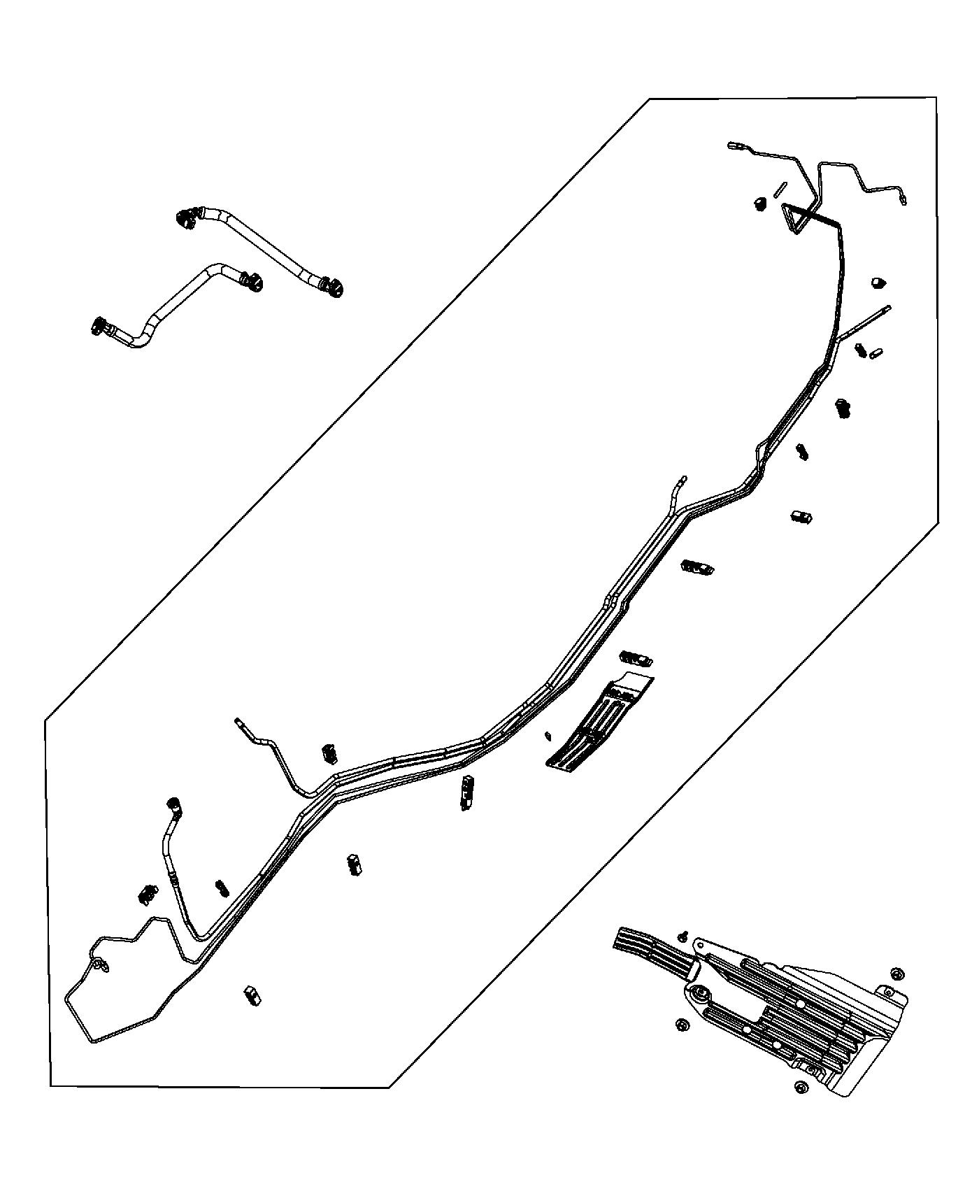 2014 Jeep Grand Cherokee Bundle. Fuel line. Lines, system