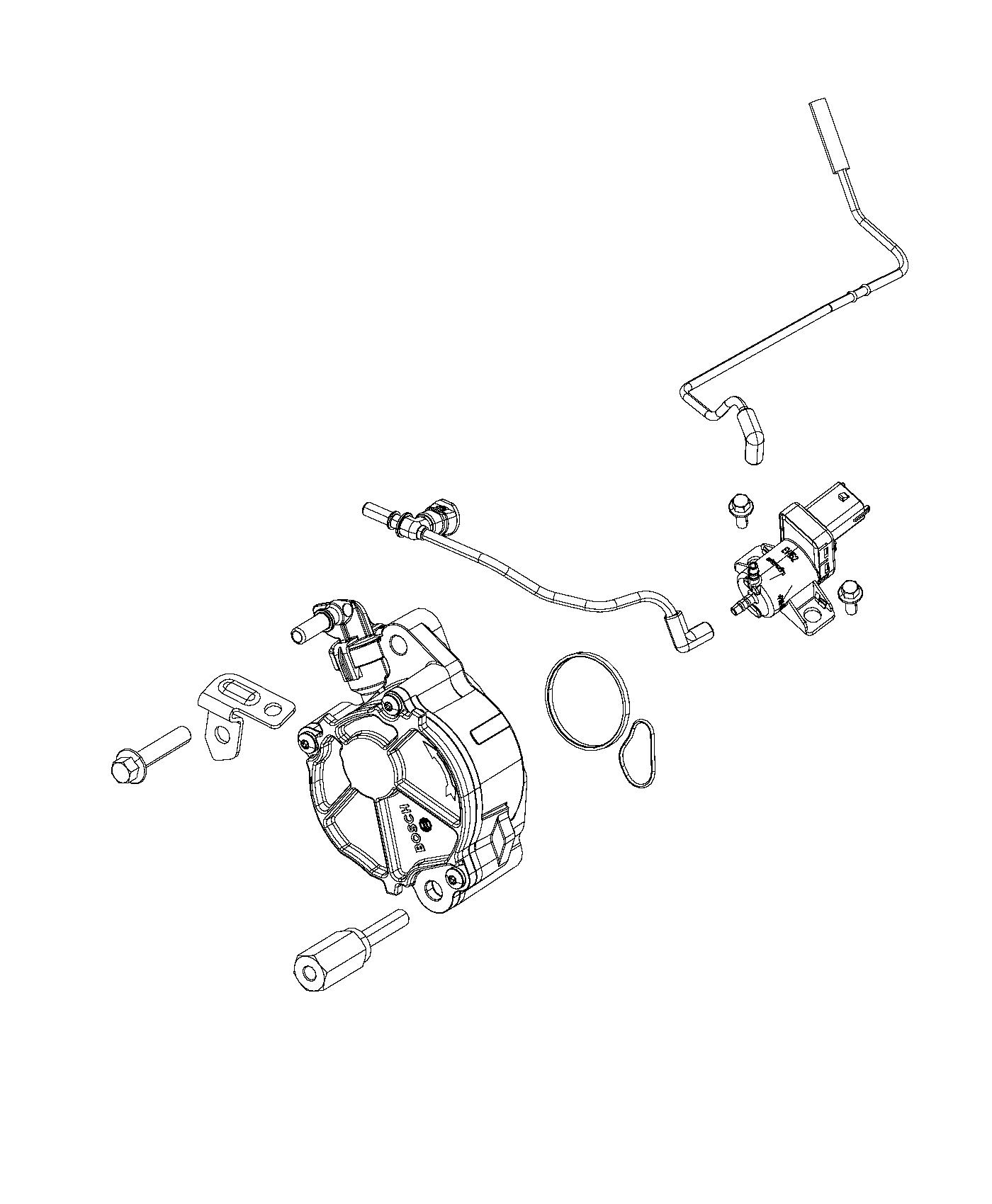 2014 Jeep Grand Cherokee Pump. Vacuum. Emissions, export