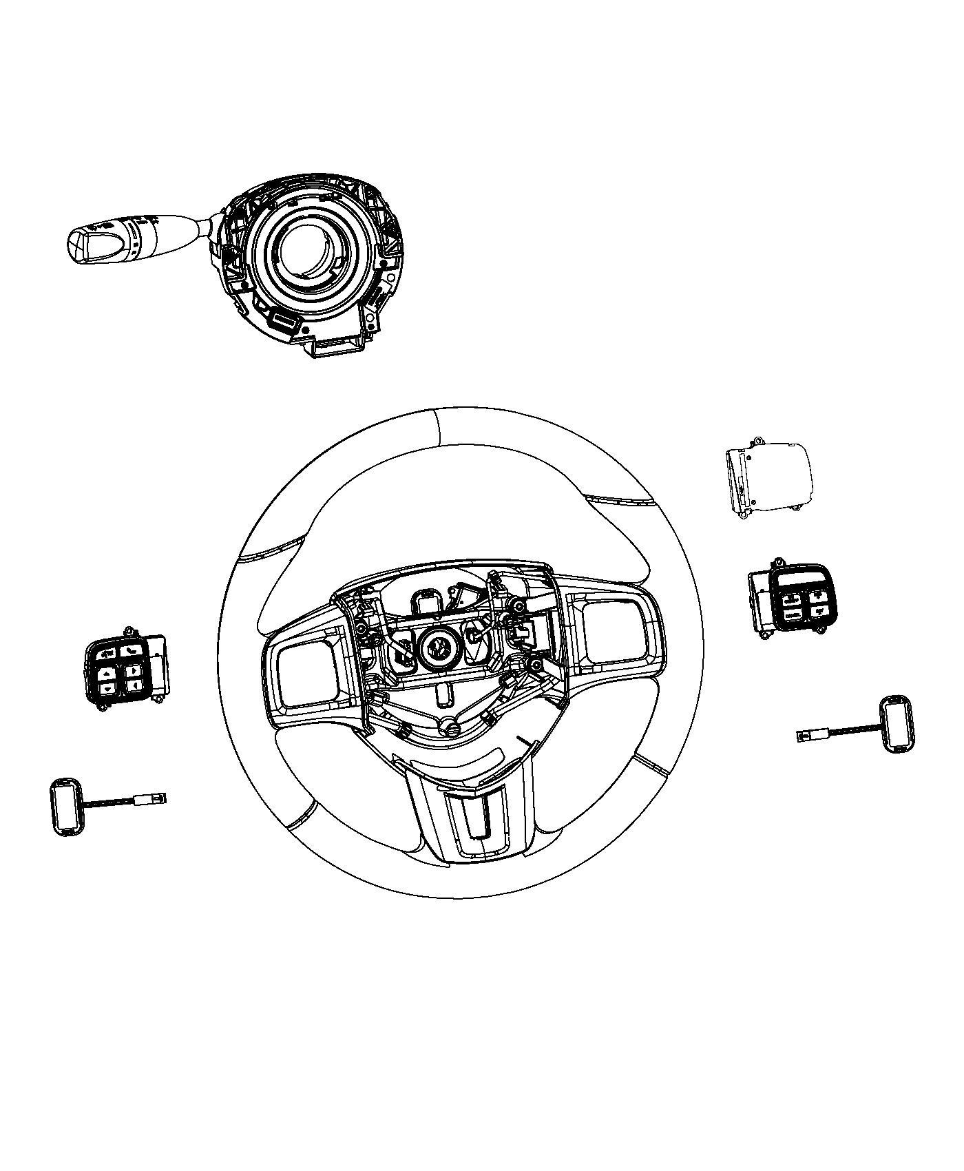 2012 Dodge Dart Module. Steering control. Trim: [all trim