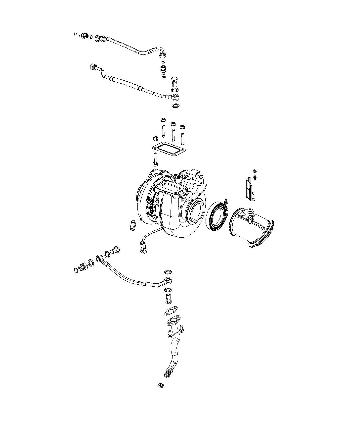 2015 Ram 3500 Turbocharger. Diesel, emissions, lines