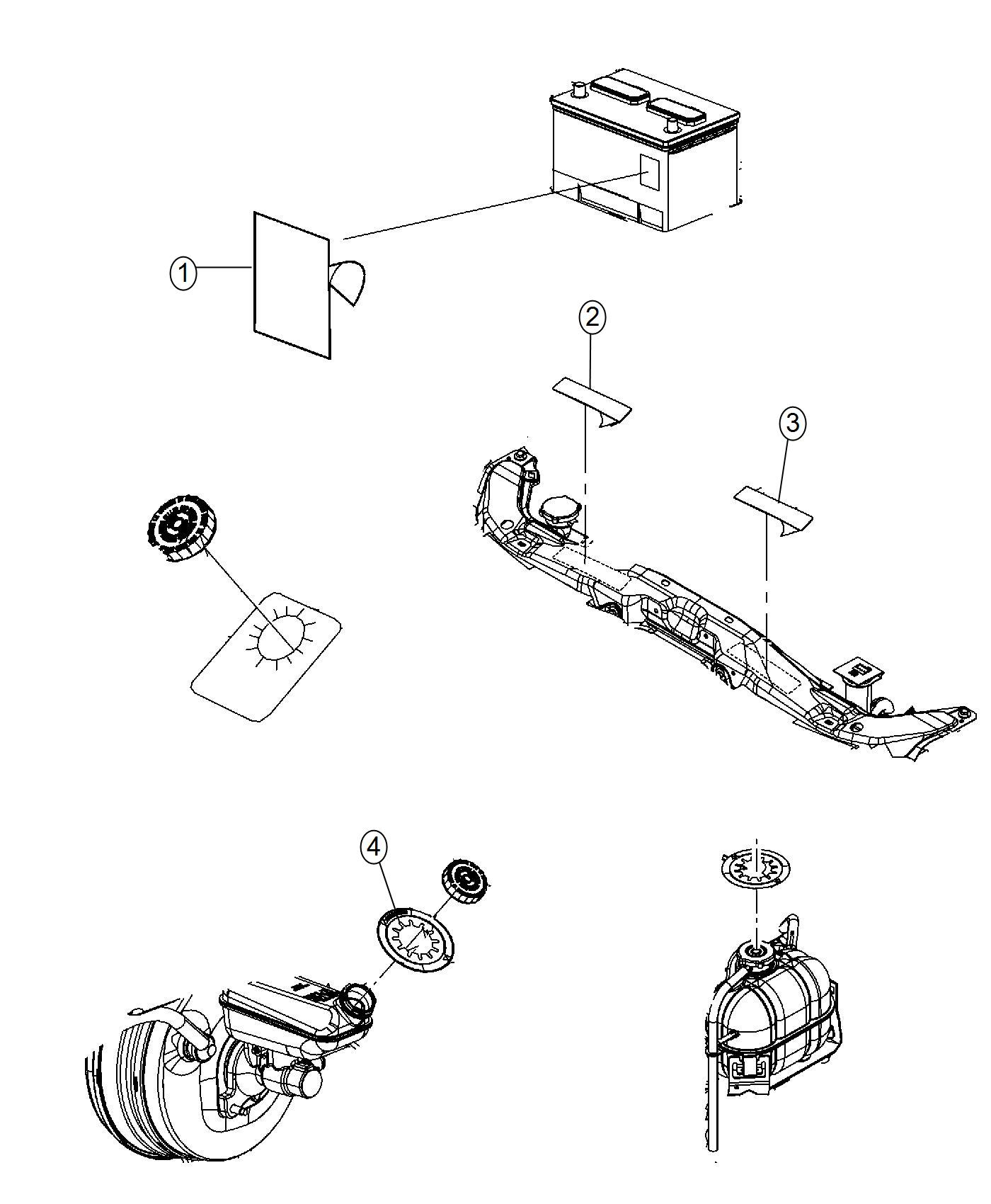 Jeep Cherokee Label Air Conditioning System Engine Duty