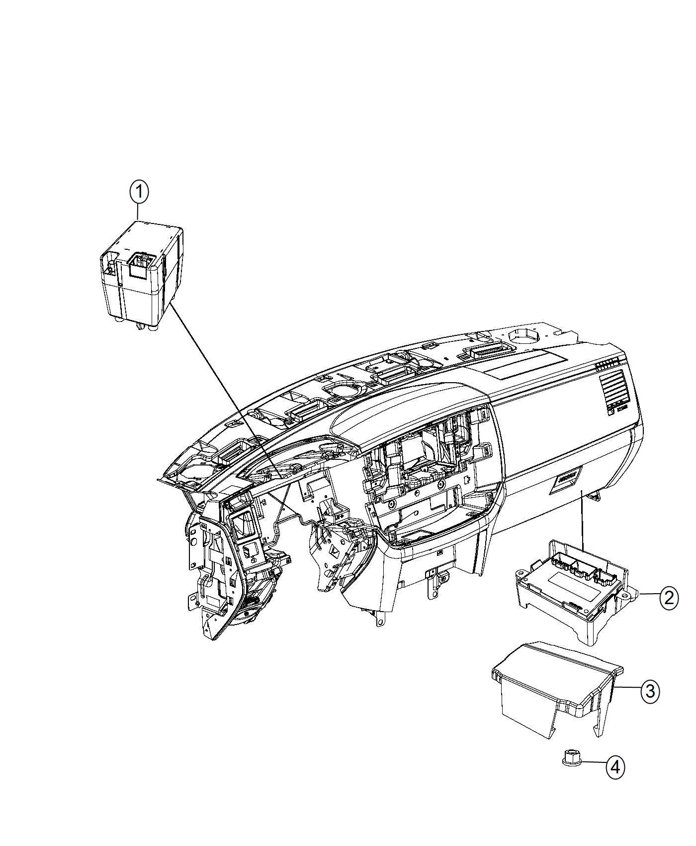 Dodge Ram 2500 Receiver. Wireless ignition node