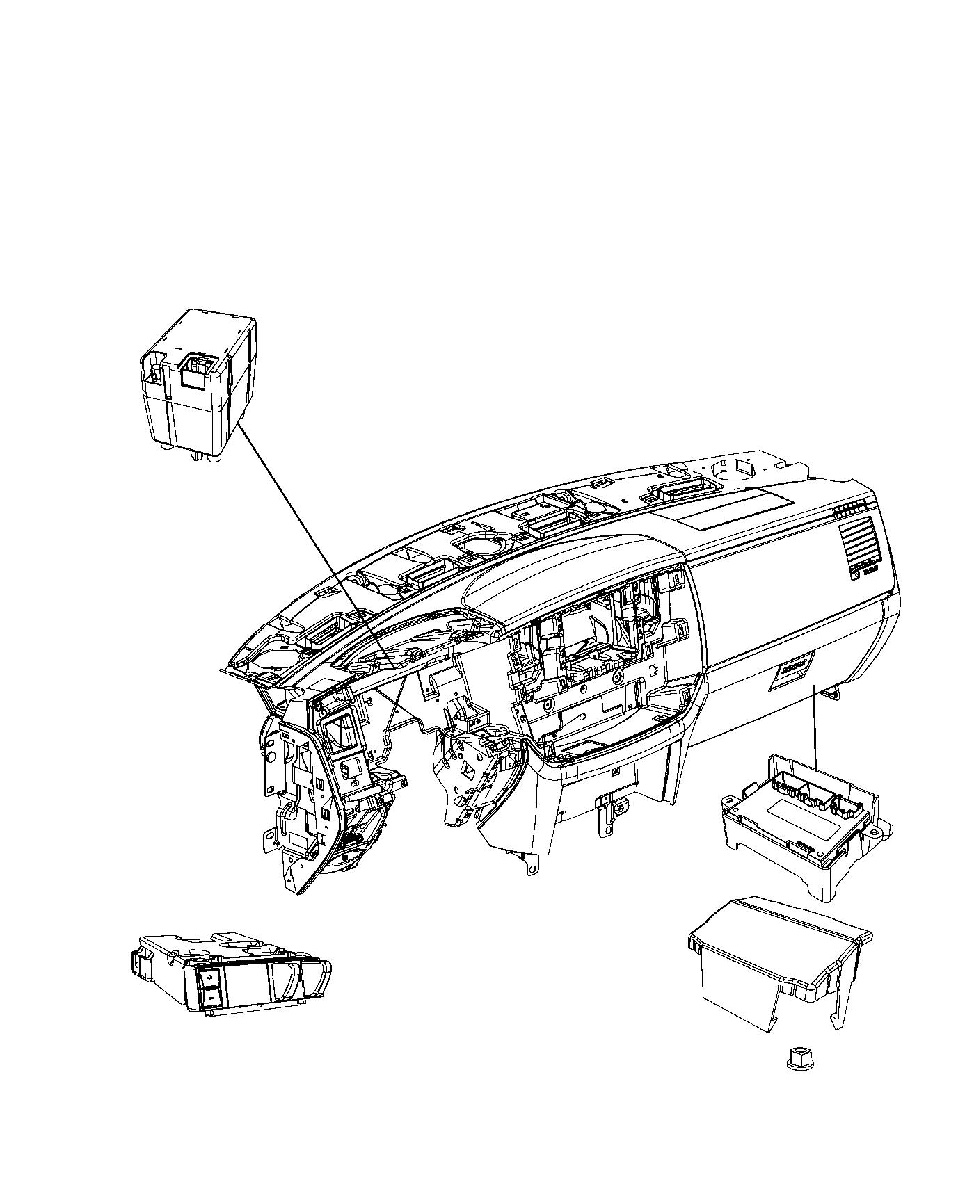 2013 Dodge Ram 4500 Receiver. Hub. Start, remote, system