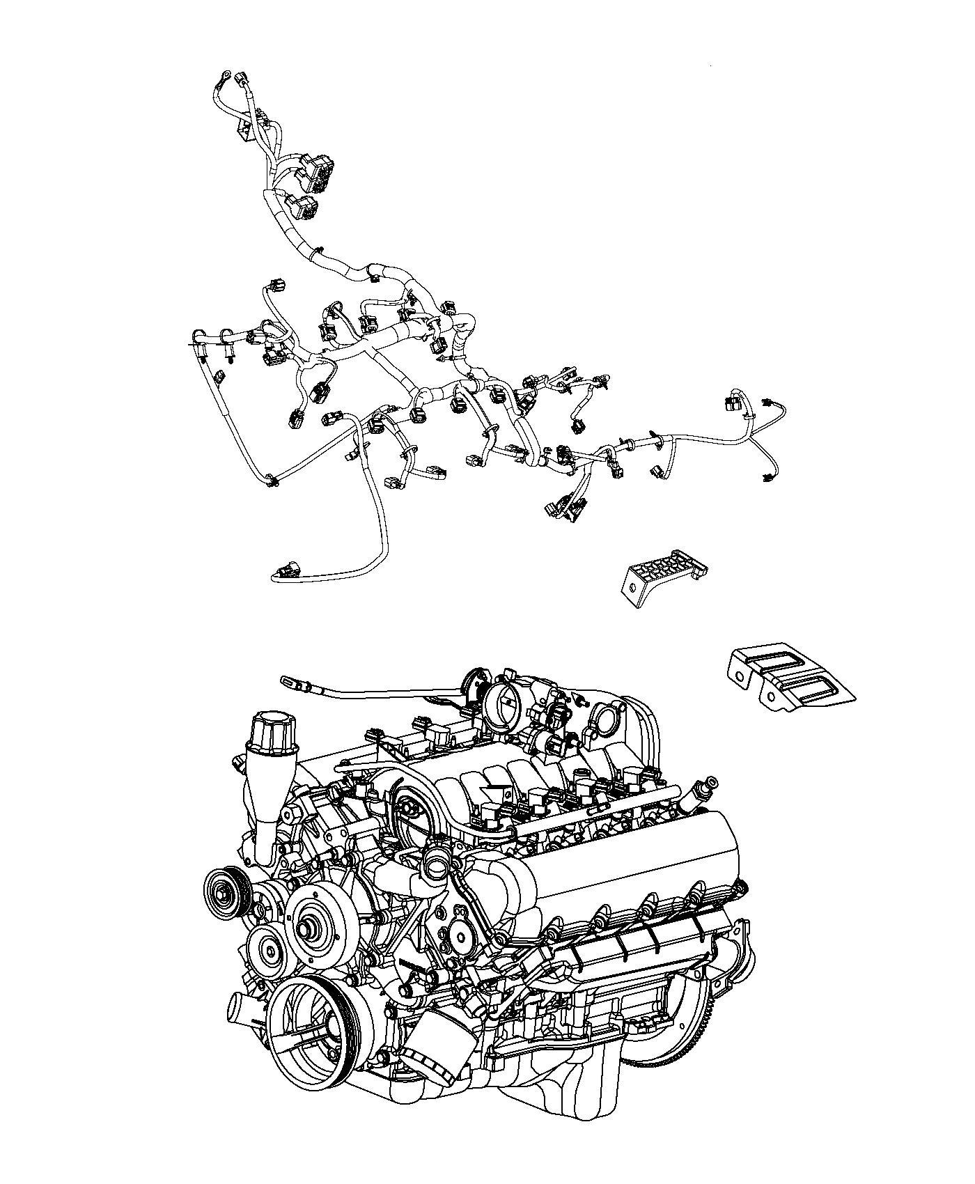 2011 Dodge Ram 3500 Bracket. Engine wiring. Ngc bracket
