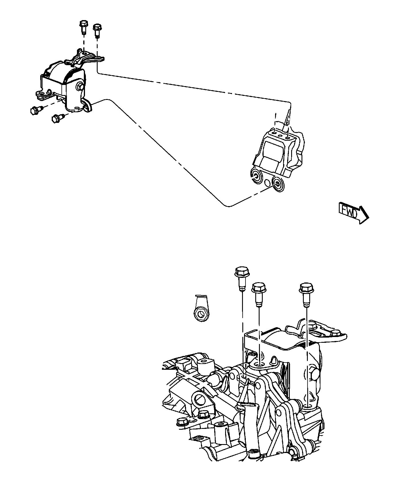 2014 Jeep Patriot Insulator. Engine mount. Left side