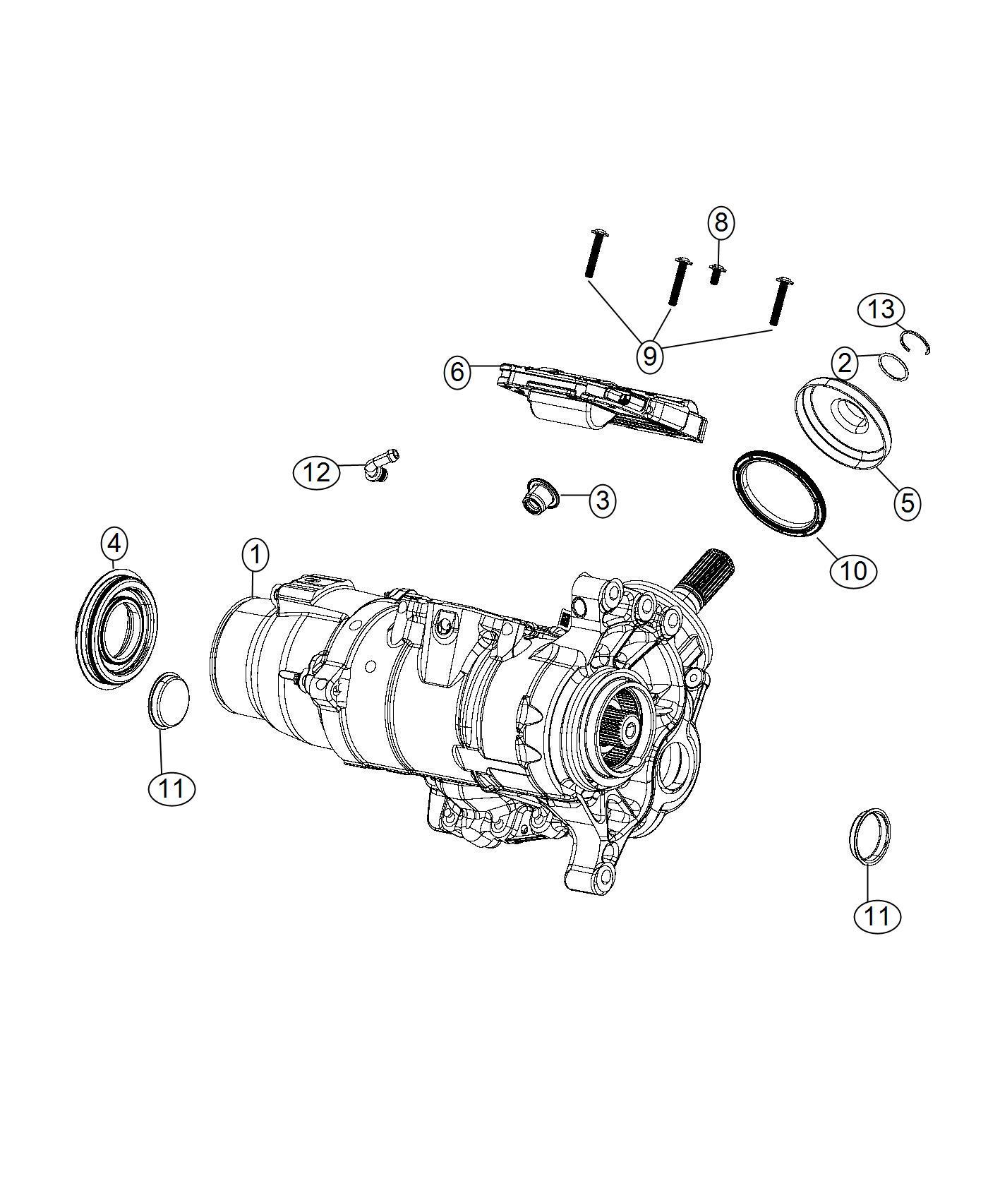 2014 Jeep Cherokee Actuator. Transfer case. Power