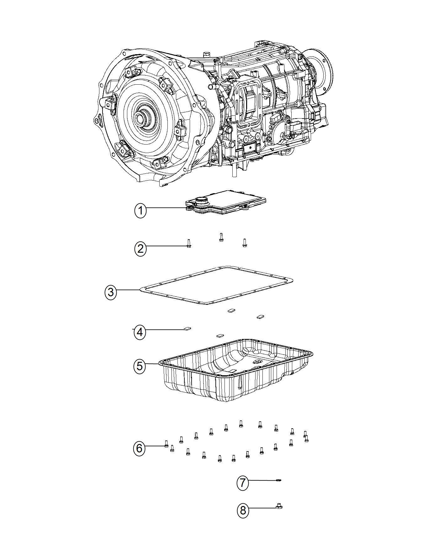 2013 Dodge Ram 5500 Filter. Transmission oil. Side, prep