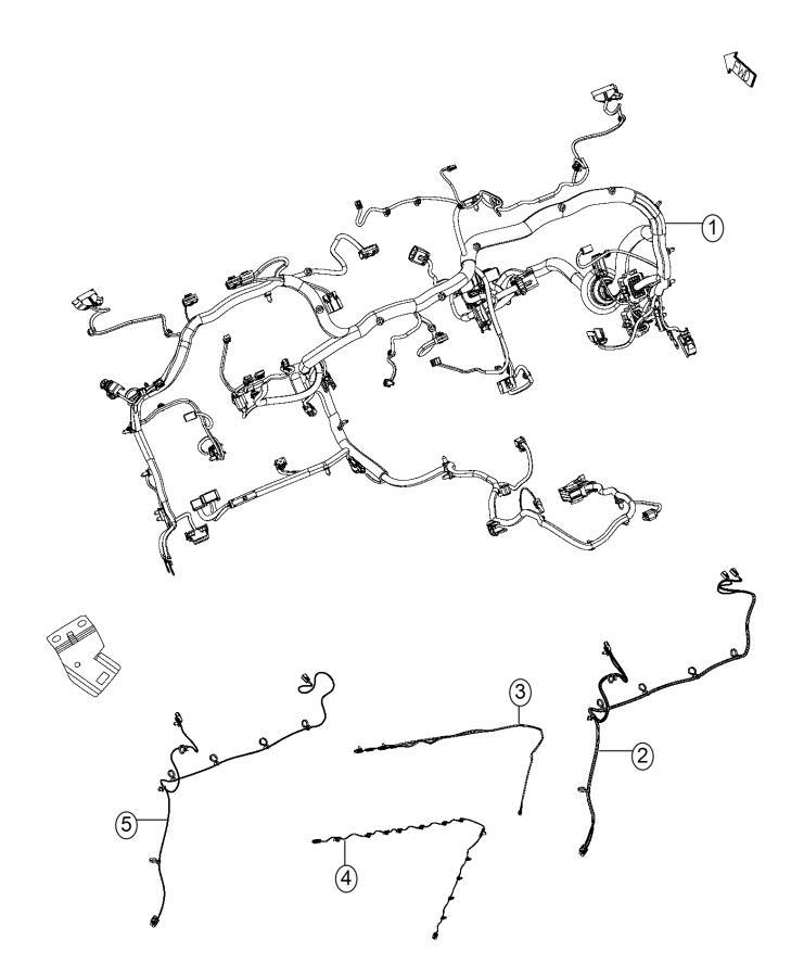 Ram 2500 Wiring. Instrument panel. Chvoyager, lpd