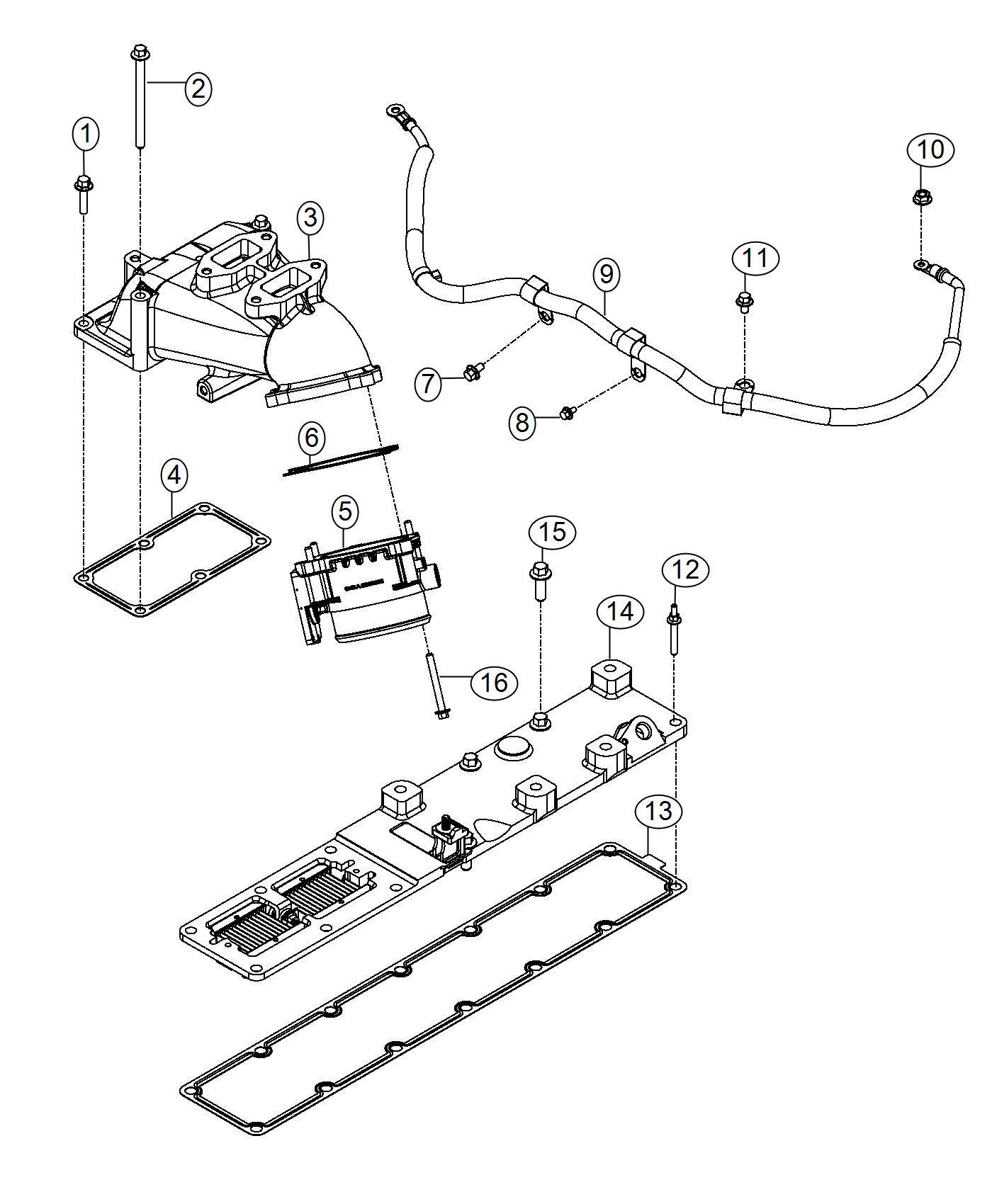 2013 Dodge Ram 4500 Wiring. Air intake heater, engine