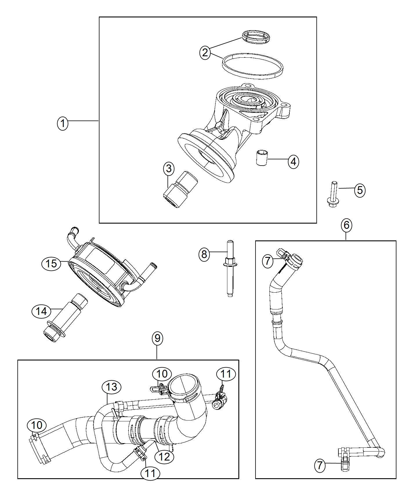 2012 Dodge Ram 1500 Hose. Oil cooler inlet. Engine, hoses