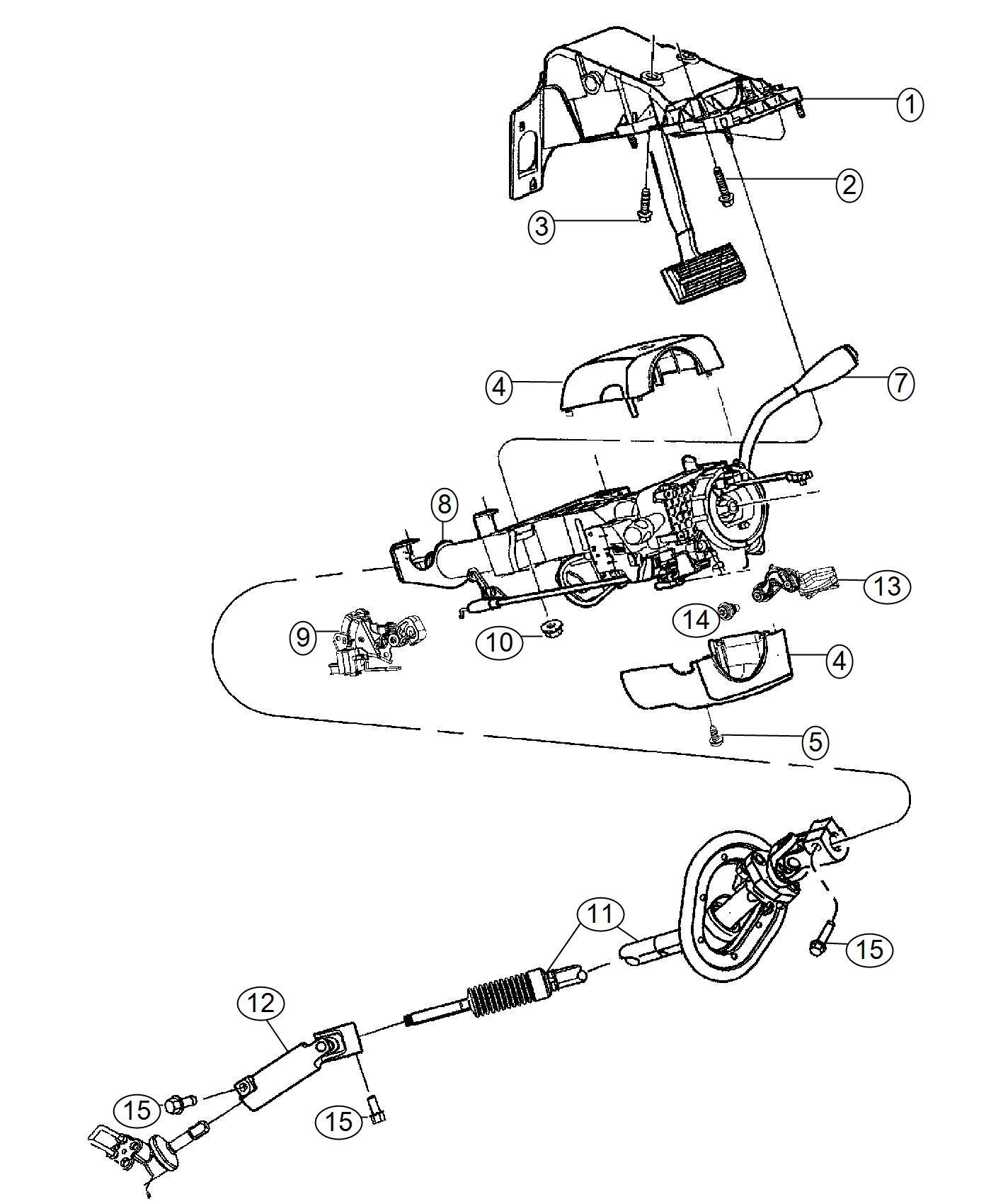Ram Shaft Steering Column Intermediate Upper