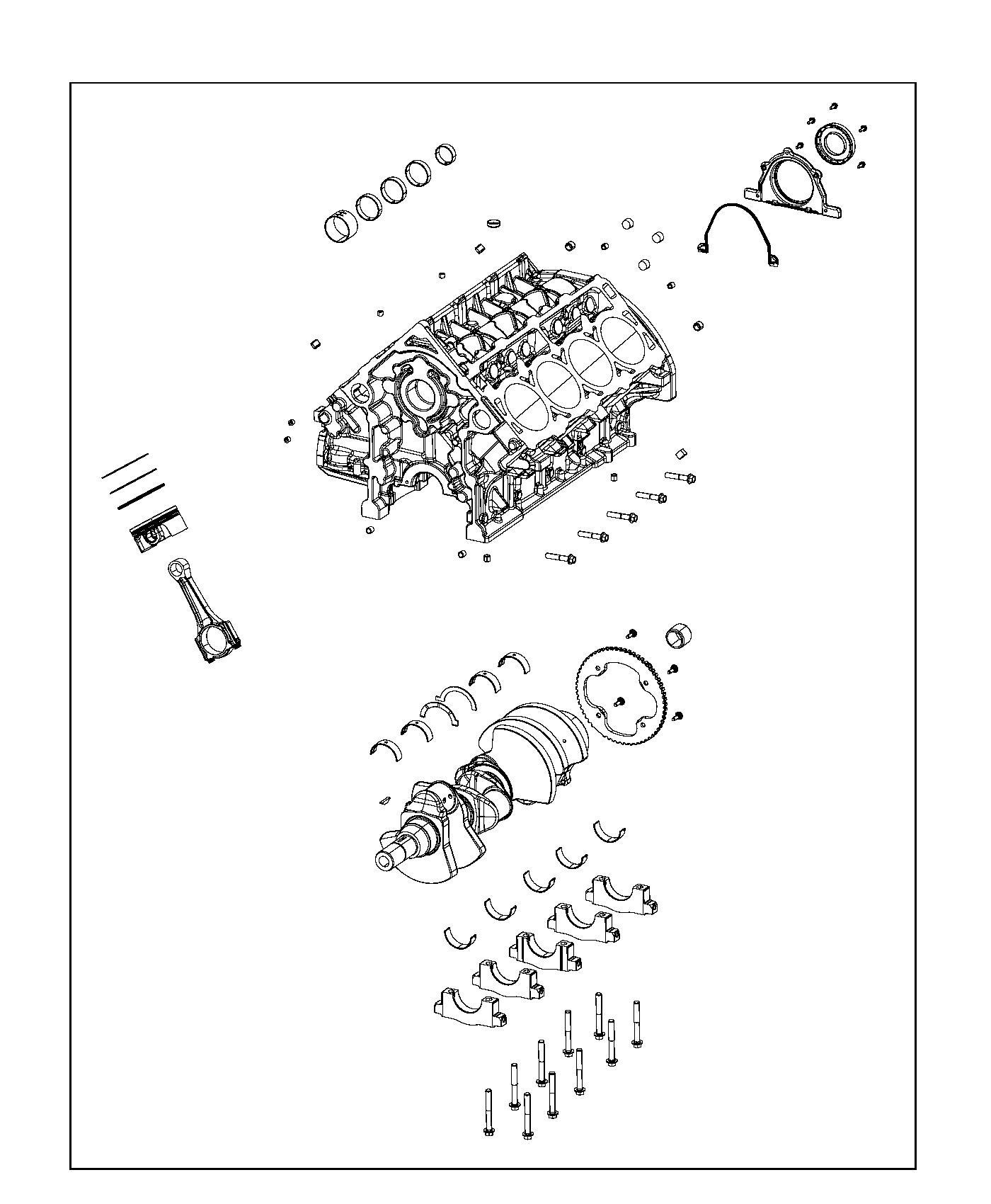 Dodge Durango Crankshaft. Crew cab. Damper, bearings