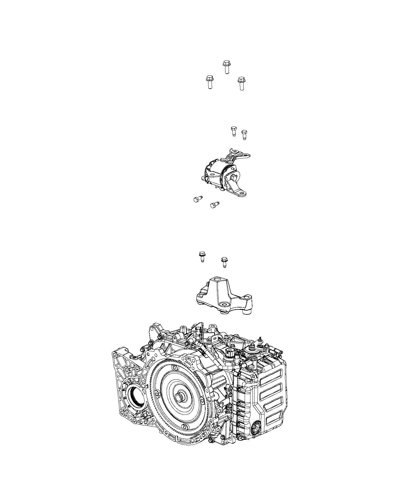 Jeep Patriot Bracket Transmission Mount 6 Speed