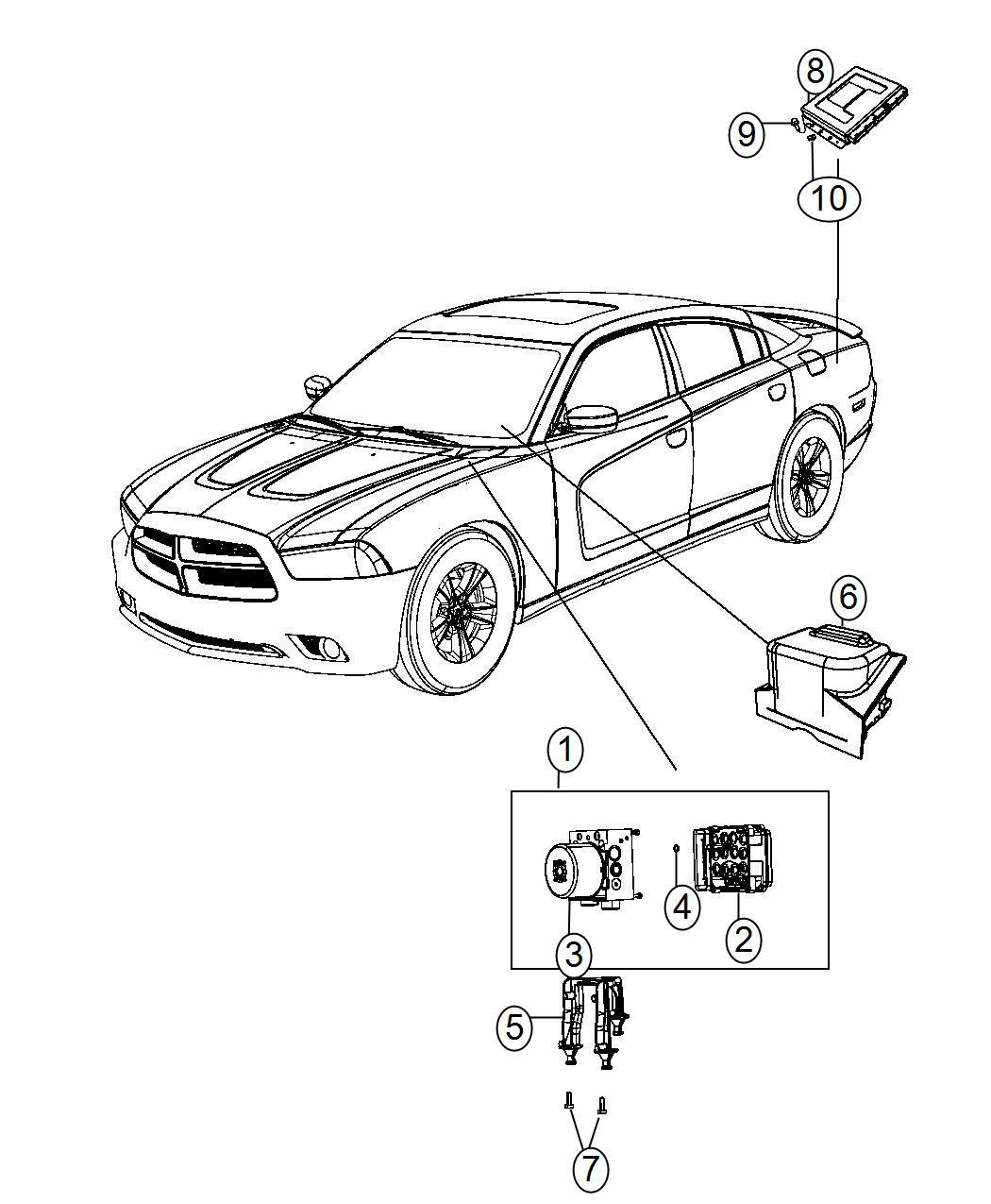 Dodge Charger Control unit. Anti-lock brake. [electronic