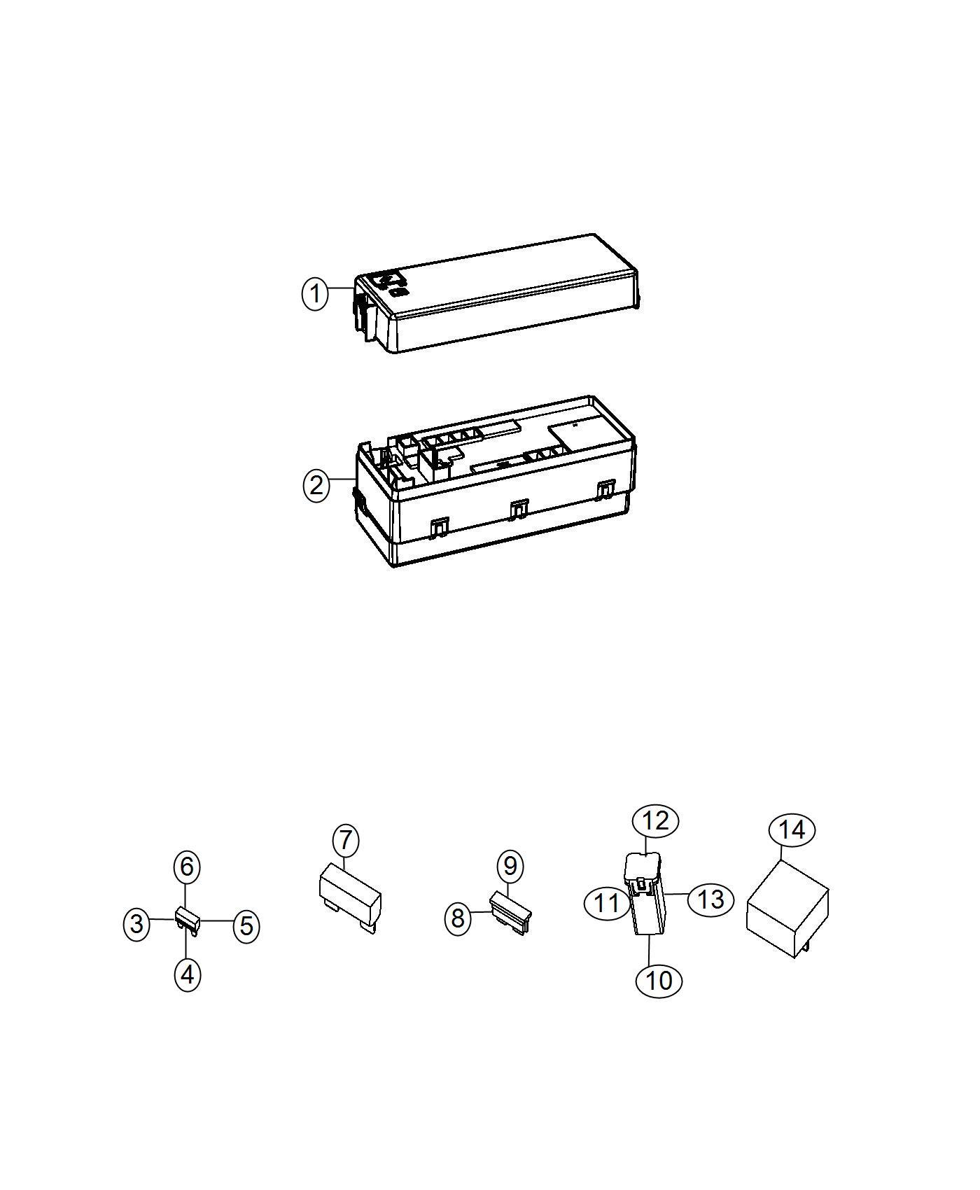Dodge Charger Fuse, fuse cartridge. J case. 20 amp. Export