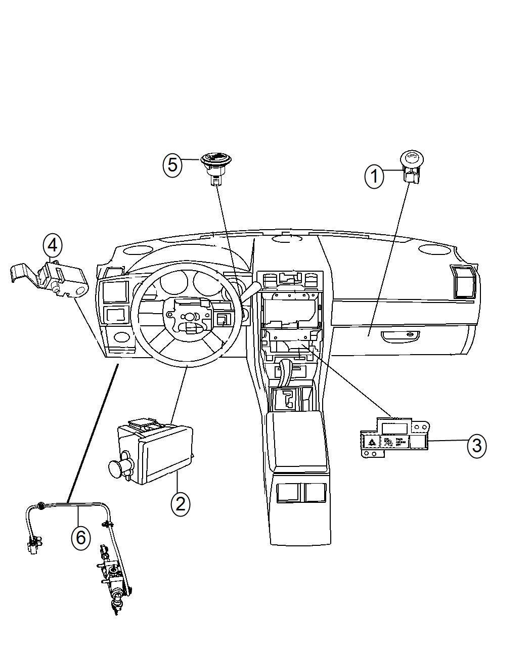 2013 Dodge Challenger Switch. Instrument panel. [bnb