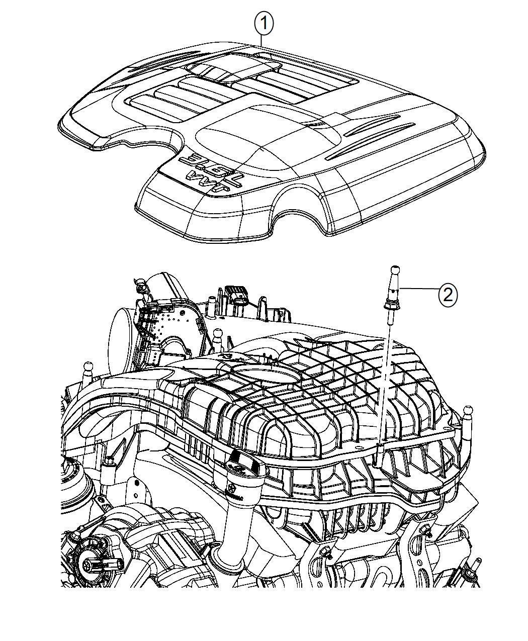 Dodge Challenger Cover. Engine. After 03/03/14