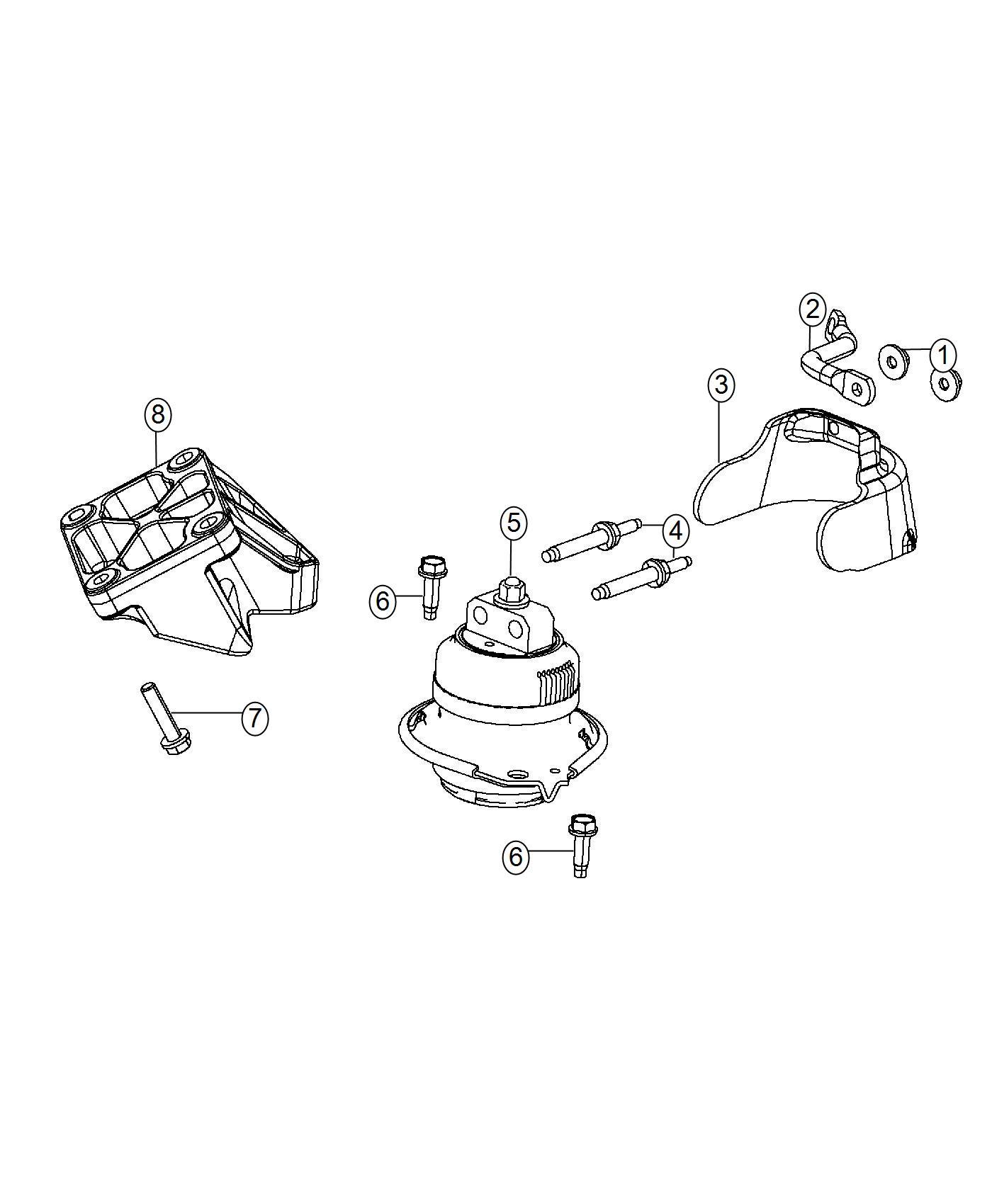 Dodge Challenger Strut Alternator Bracket Engine Side