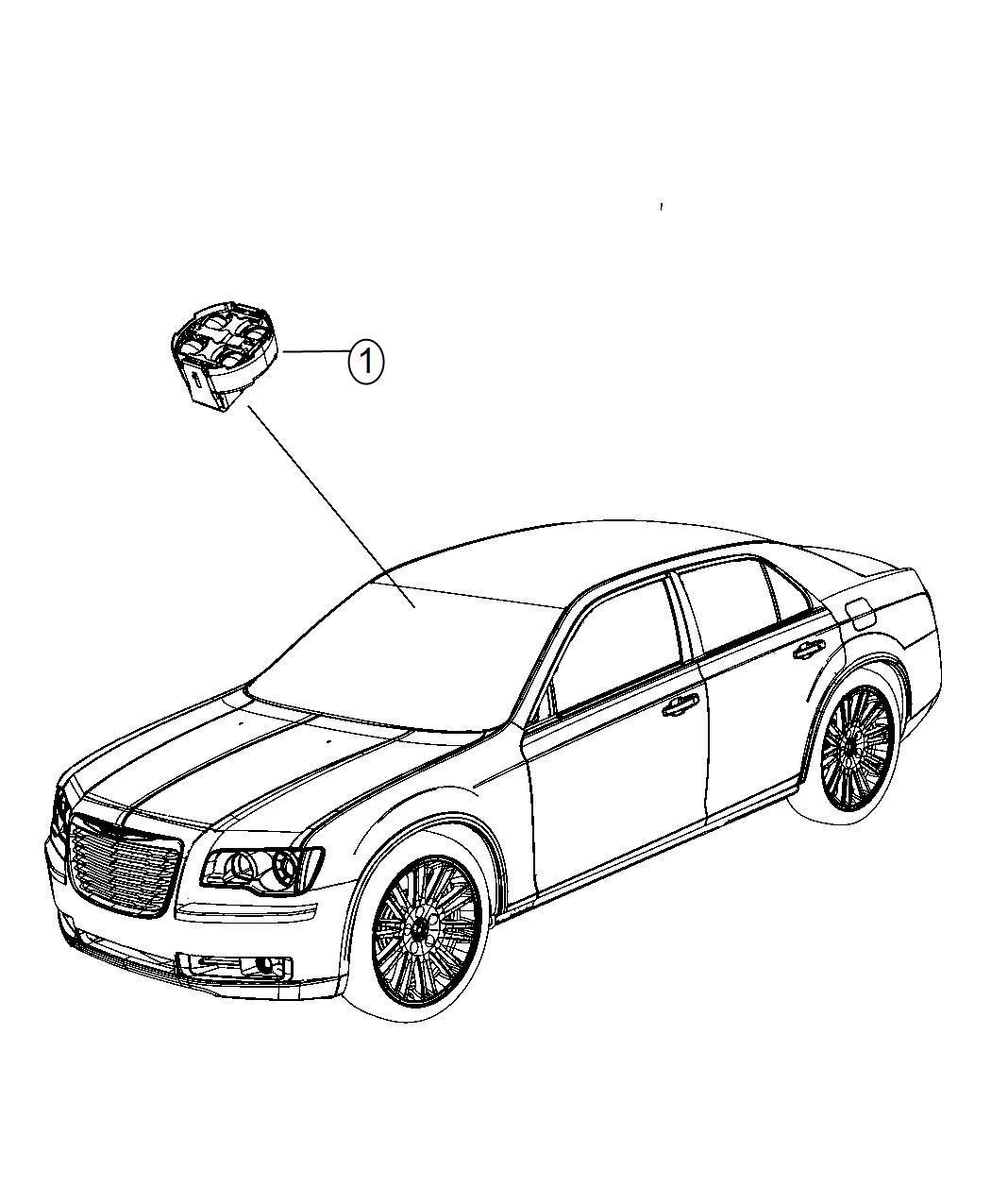 Chrysler 300 Module Rain Sensor Rain Sensitive