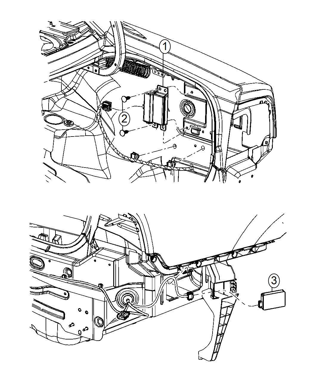 2014 Chrysler 300 Module. Blind spot detection. Path