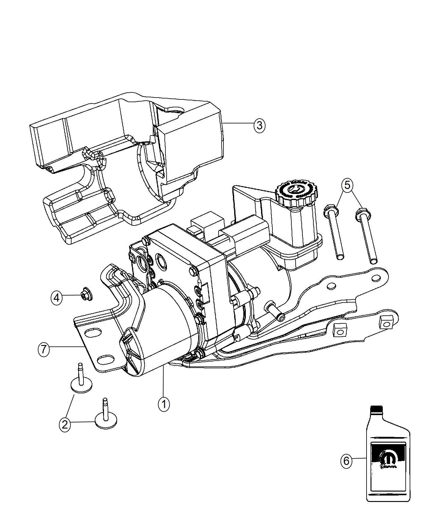 Chrysler 300 Bracket. Power steering pump. [electro