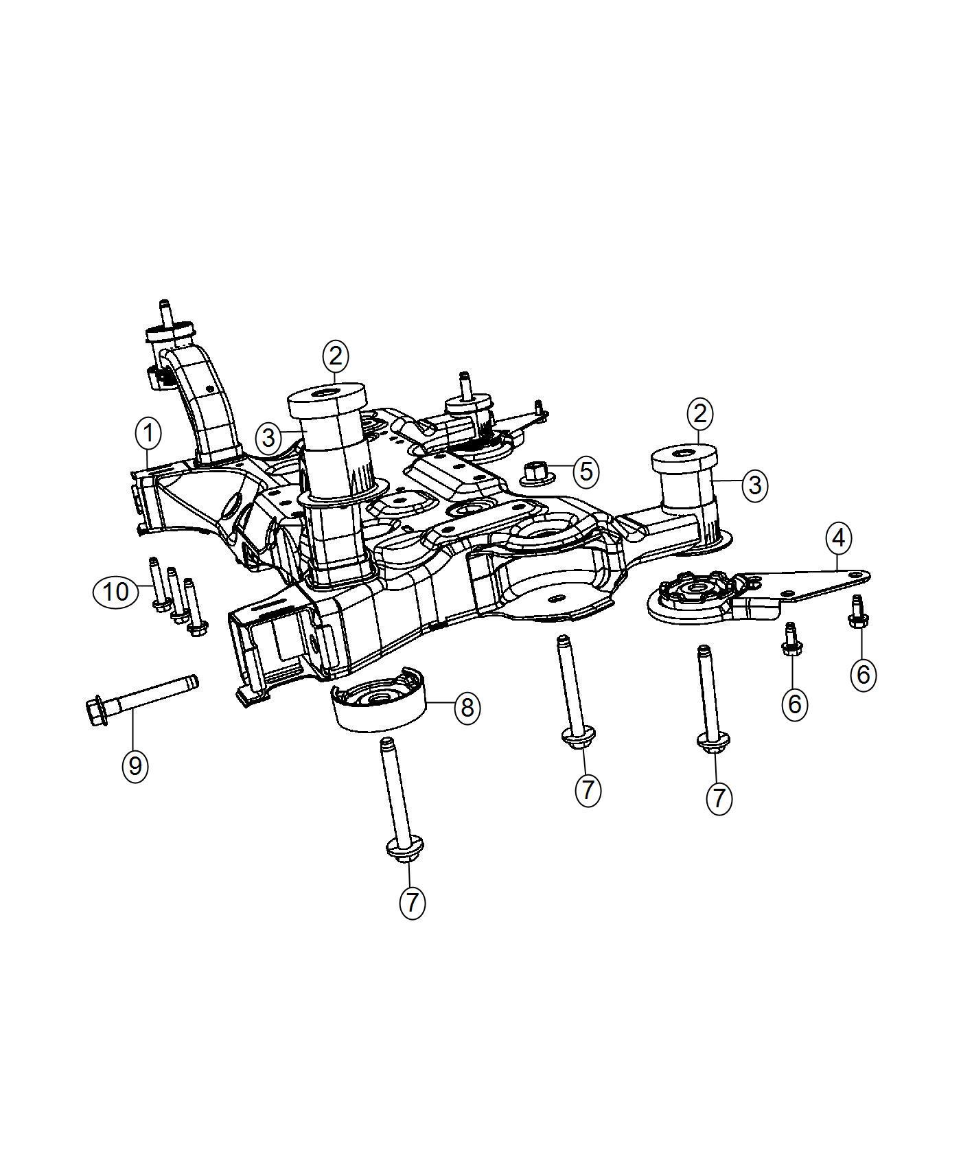 Chrysler 200 Isolator. Crossmember. Front crossmember