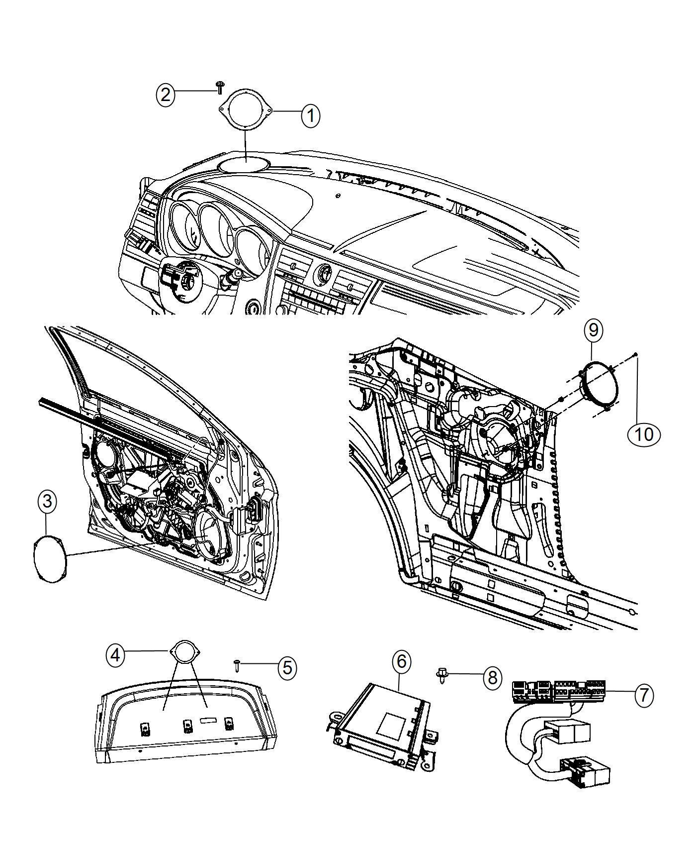 Chrysler 200 Amplifier 276w Boston Acoustic Speakers 6 With Bracket