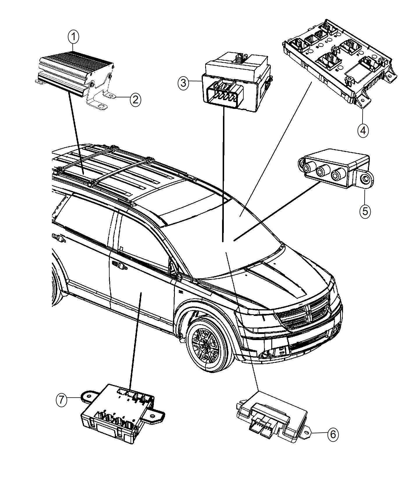 2017 Dodge Journey Module. Drive train control. Modules