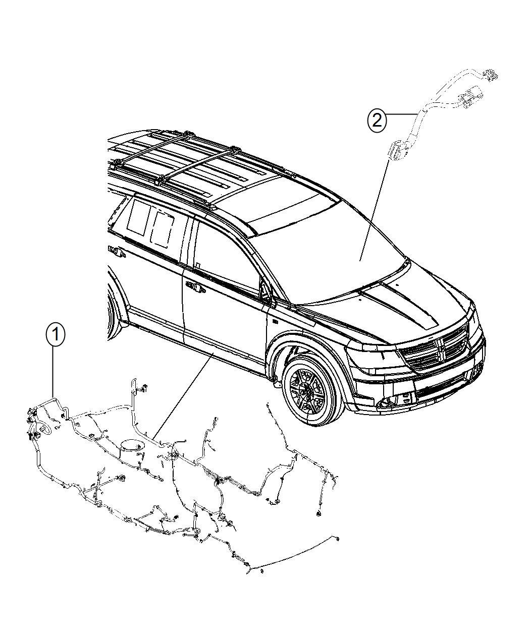 Dodge Journey Wiring. Unified body. Active, protection