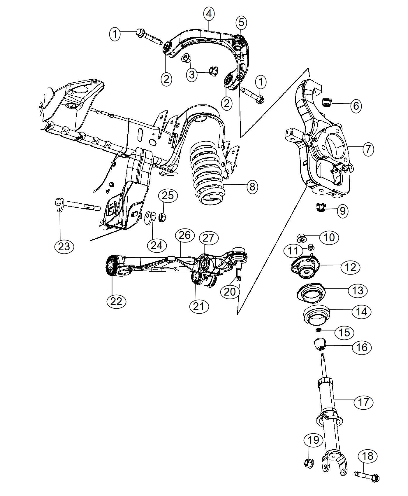 Dodge Ram Ball Joint Package Lower Control Arm