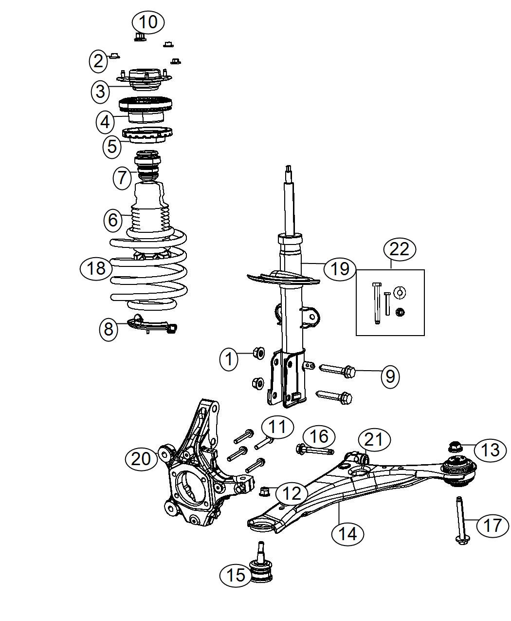 Chrysler Town Amp Country Spring Left Right Front Coil Zha Zwa Suspension Module