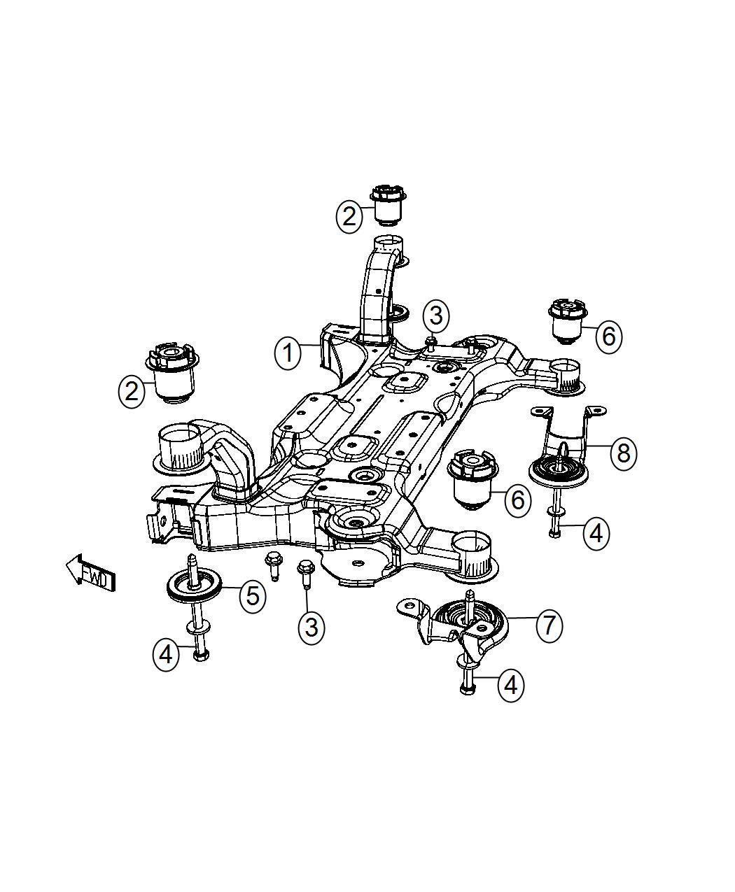 Dodge Grand Caravan Plate Isolator Suspension