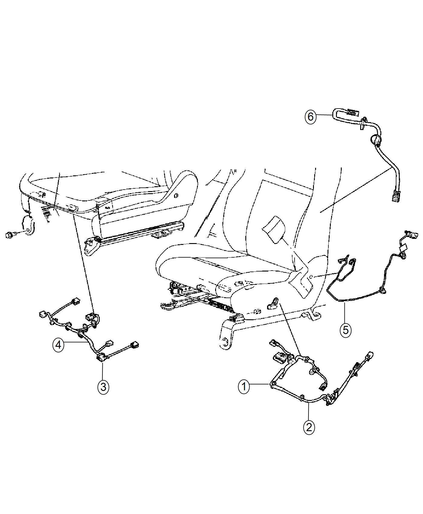 Ram C V Wiring Jumper Seat Active Head Restraint
