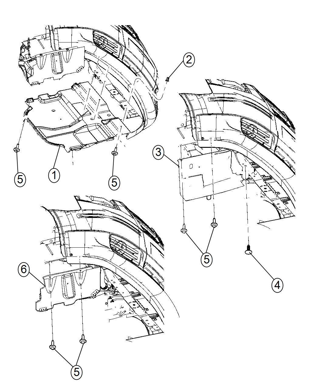 Dodge Grand Caravan Belly pan. Front. [2.8l i4 turbo