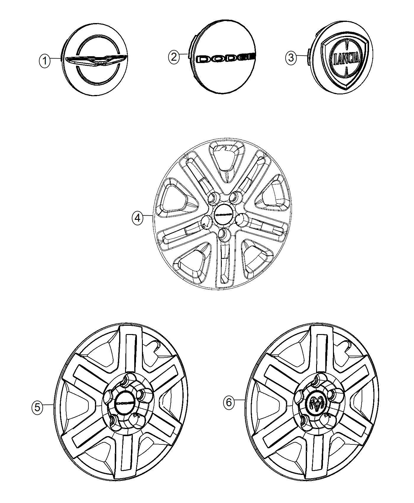 2014 Dodge Grand Caravan Cover. Wheel. [17 wheel covers