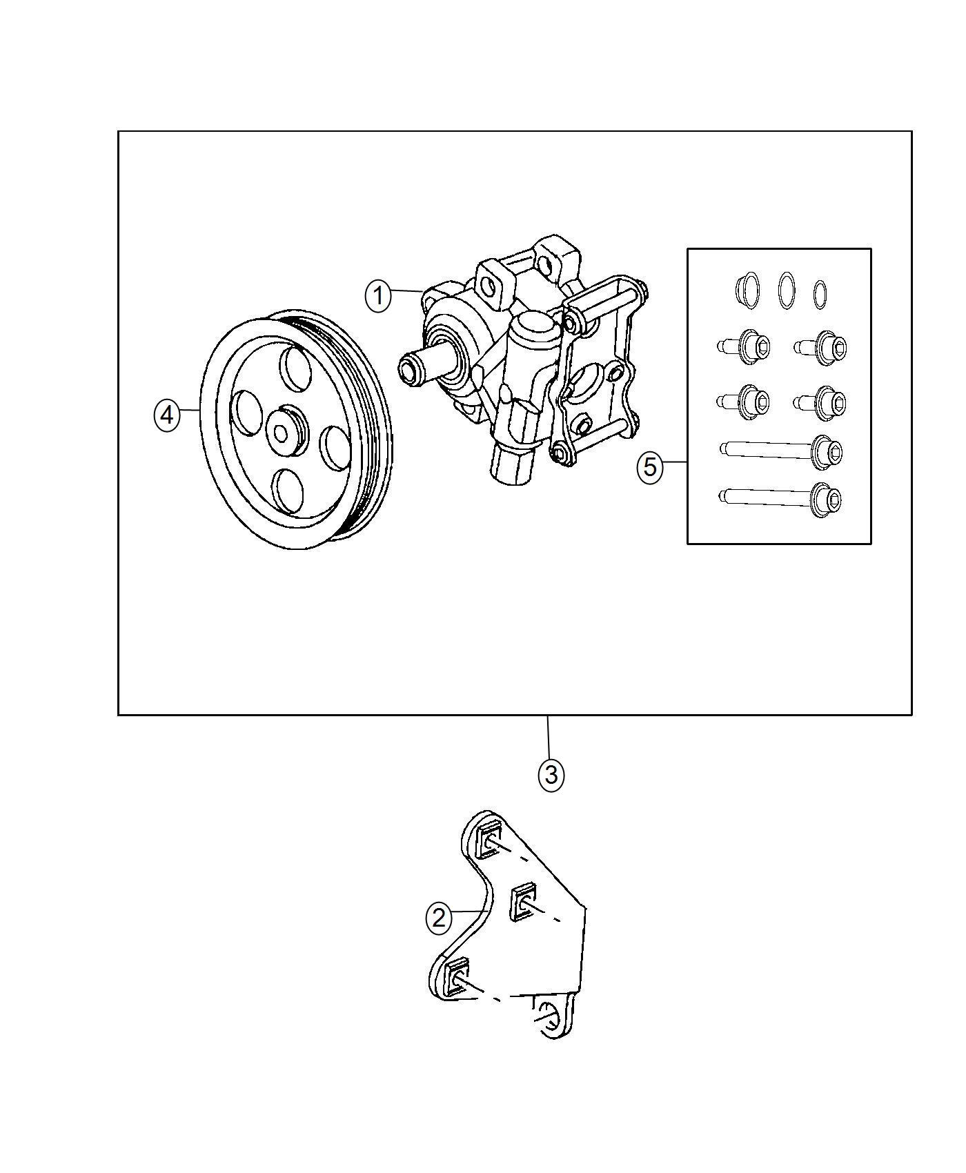 2009 Dodge Ram 1500 Bracket. Power steering pump. [5.7l v8