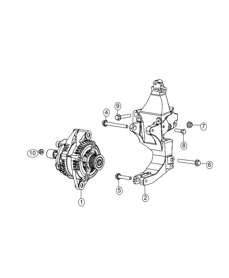 2014 Dodge Dart Bracket. Used for: alternator and