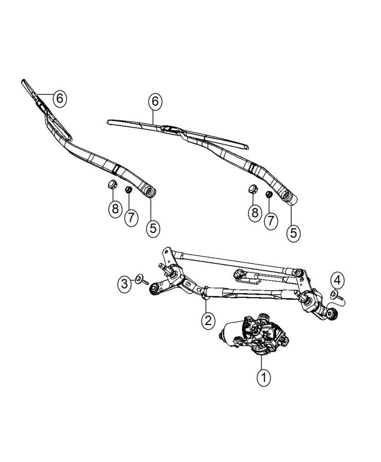 2014 Dodge Dart Screw. Hex head. M6x1x31. Right. Wiper