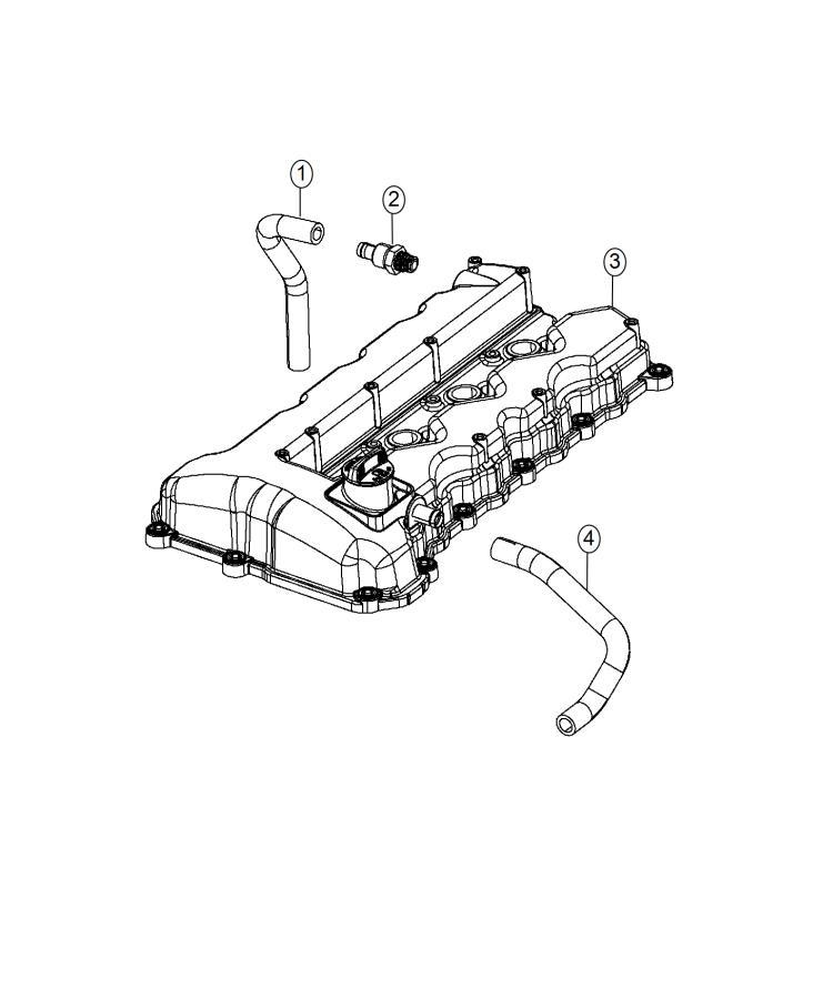Dodge Dart Hose. Pcv. Ventilation, crankcase, module