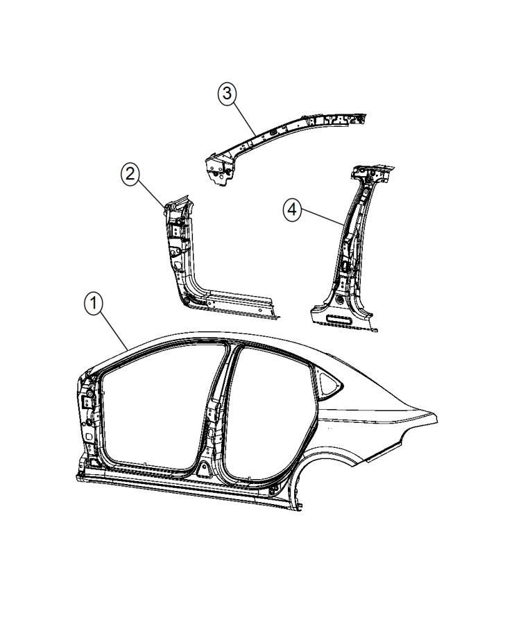 2014 Dodge Dart Reinforcement. Body side aperture front